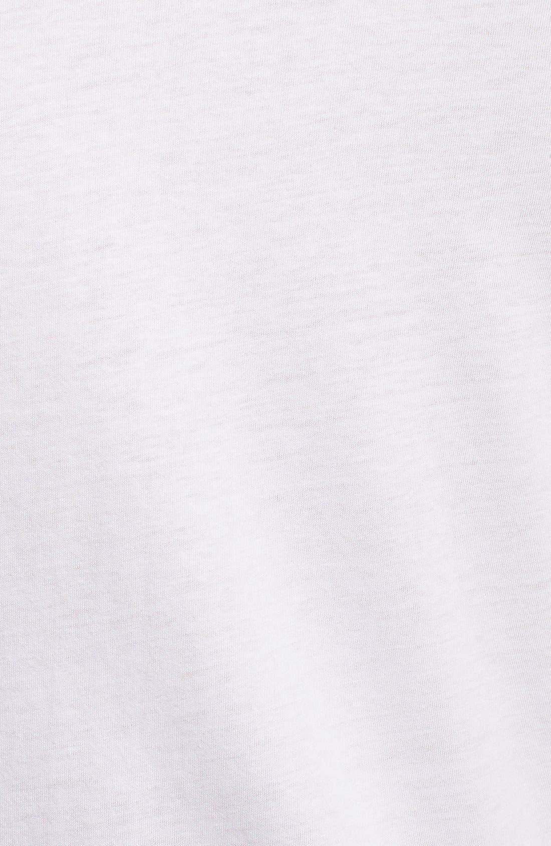 Slim Fit 3-Pack Cotton T-Shirt,                             Alternate thumbnail 5, color,                             WHITE