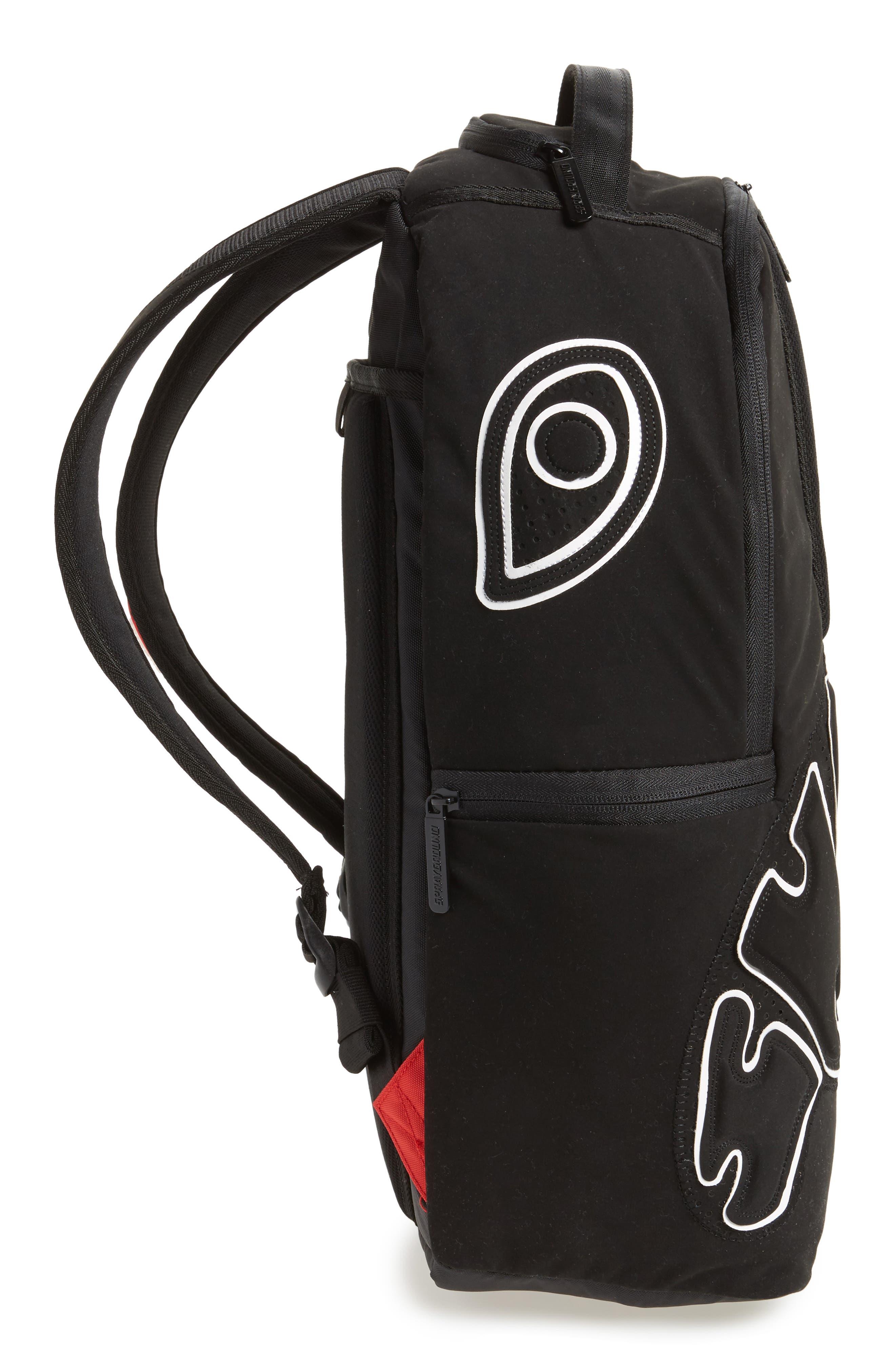 Uptempo Shark Backpack,                             Alternate thumbnail 5, color,                             001