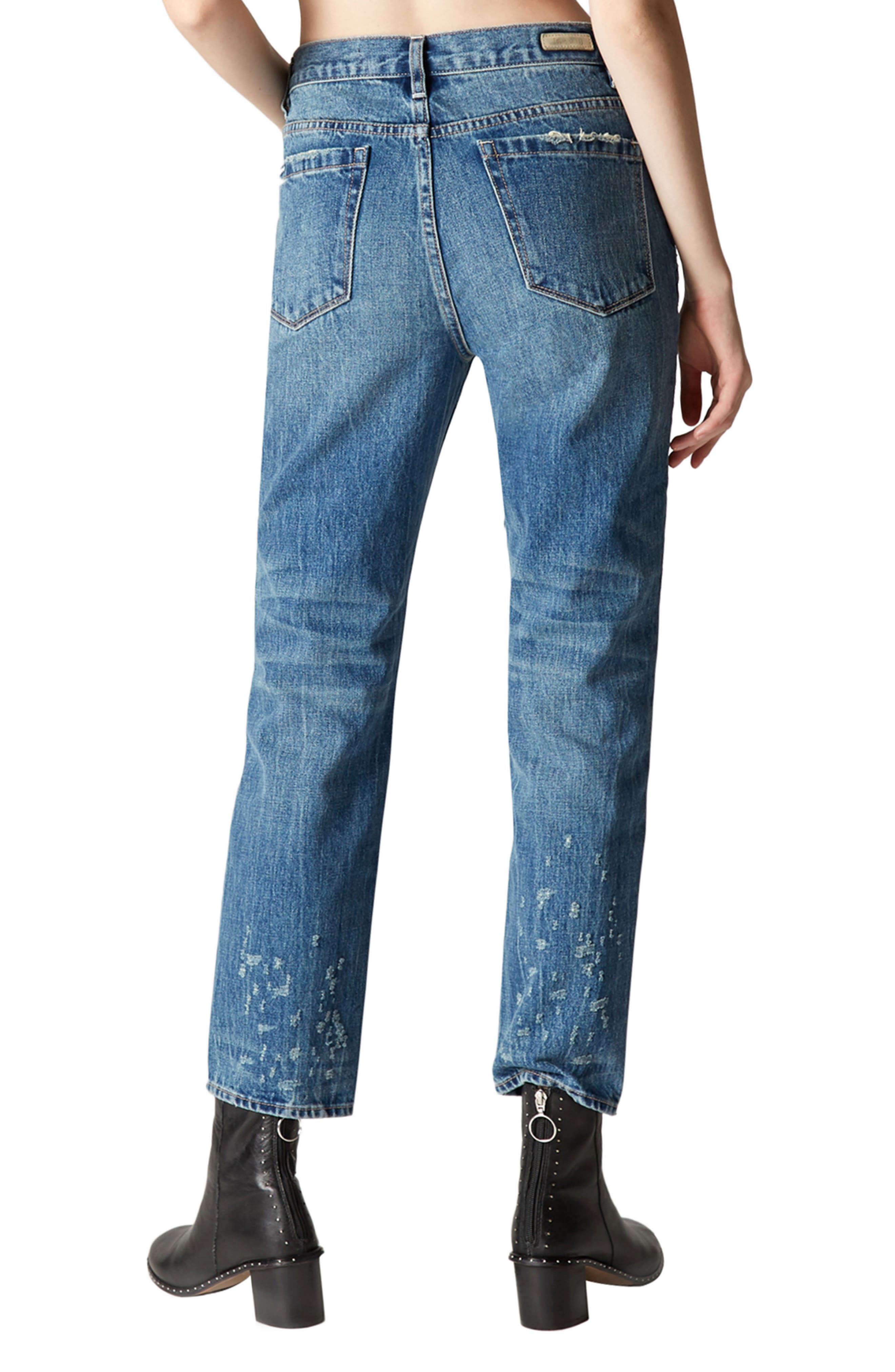 Empty Threat Straight Leg Jeans,                             Alternate thumbnail 2, color,                             400