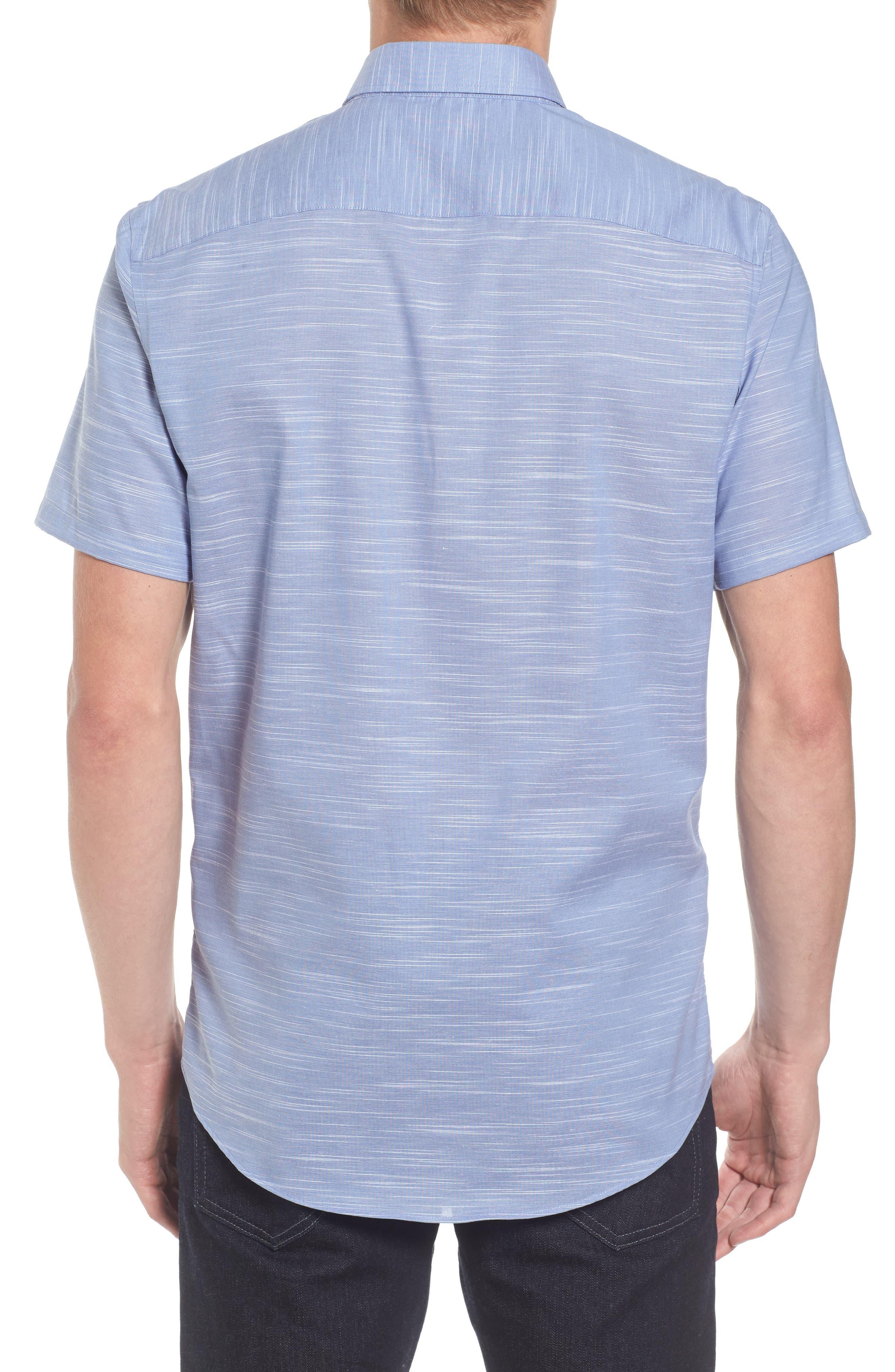 Calilbrate Slim Fit Slub Woven Shirt,                             Alternate thumbnail 5, color,