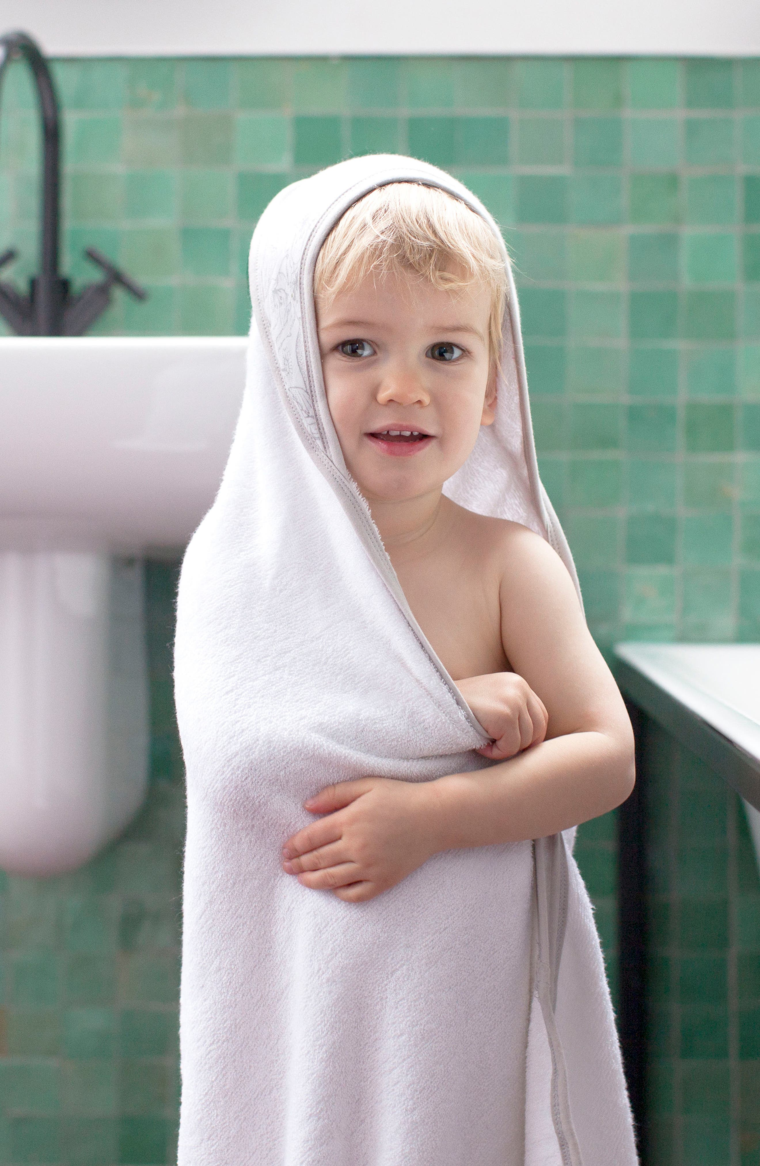 Hooded Towel & Washcloth Set,                             Alternate thumbnail 5, color,                             108