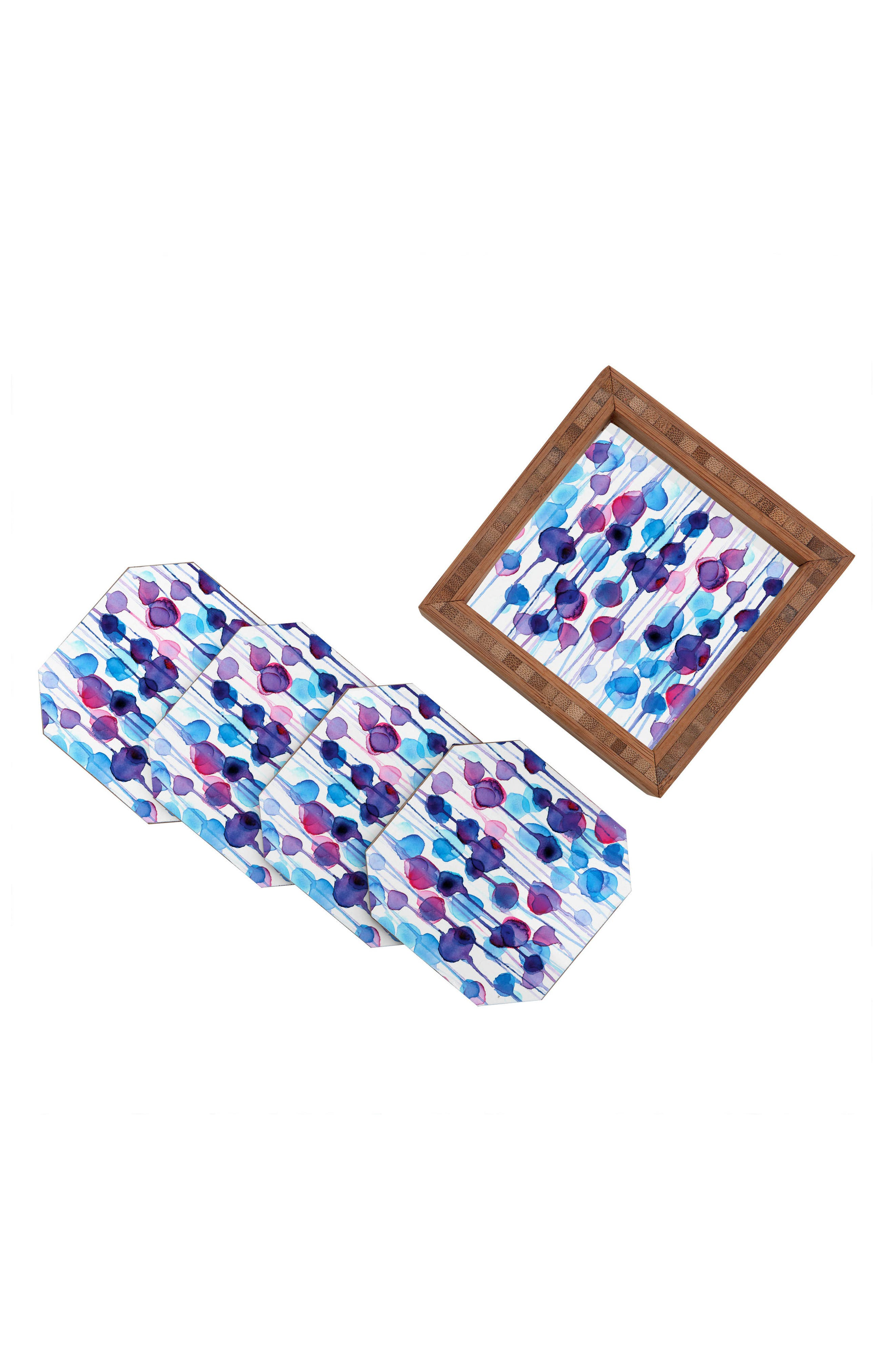 Abstract Set of 4 Coasters,                             Alternate thumbnail 3, color,                             400