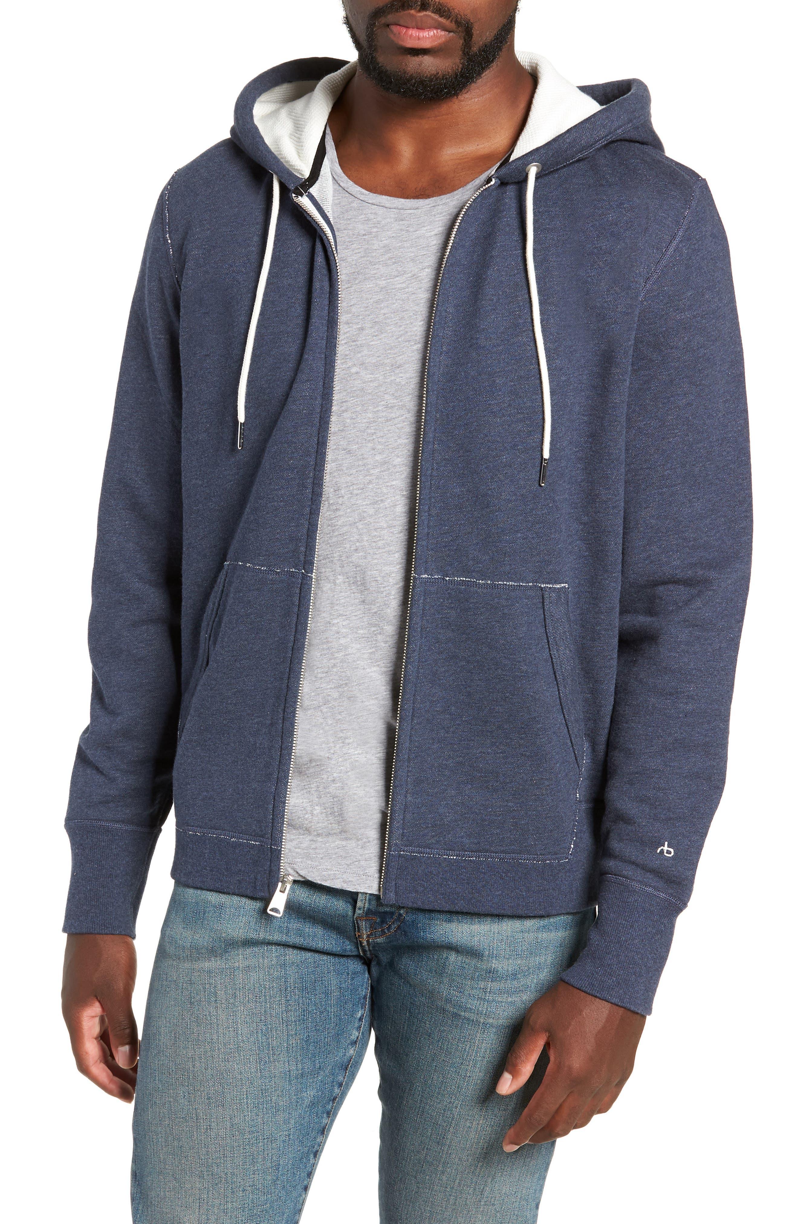 Standard Issue Zip Hoodie,                         Main,                         color, NAVY MELANGE