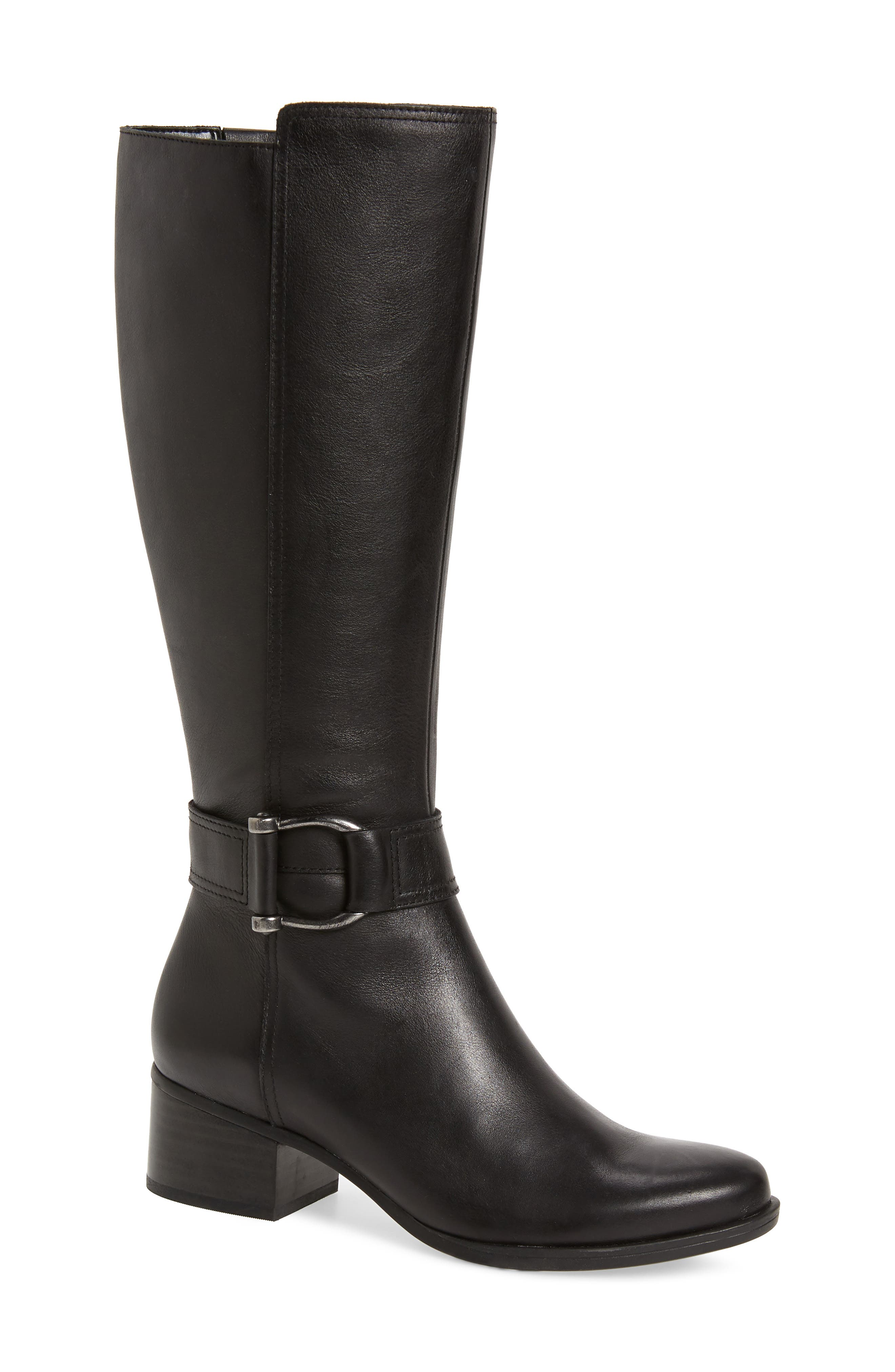Dempsey Boot,                             Main thumbnail 1, color,                             BLACK LEATHER