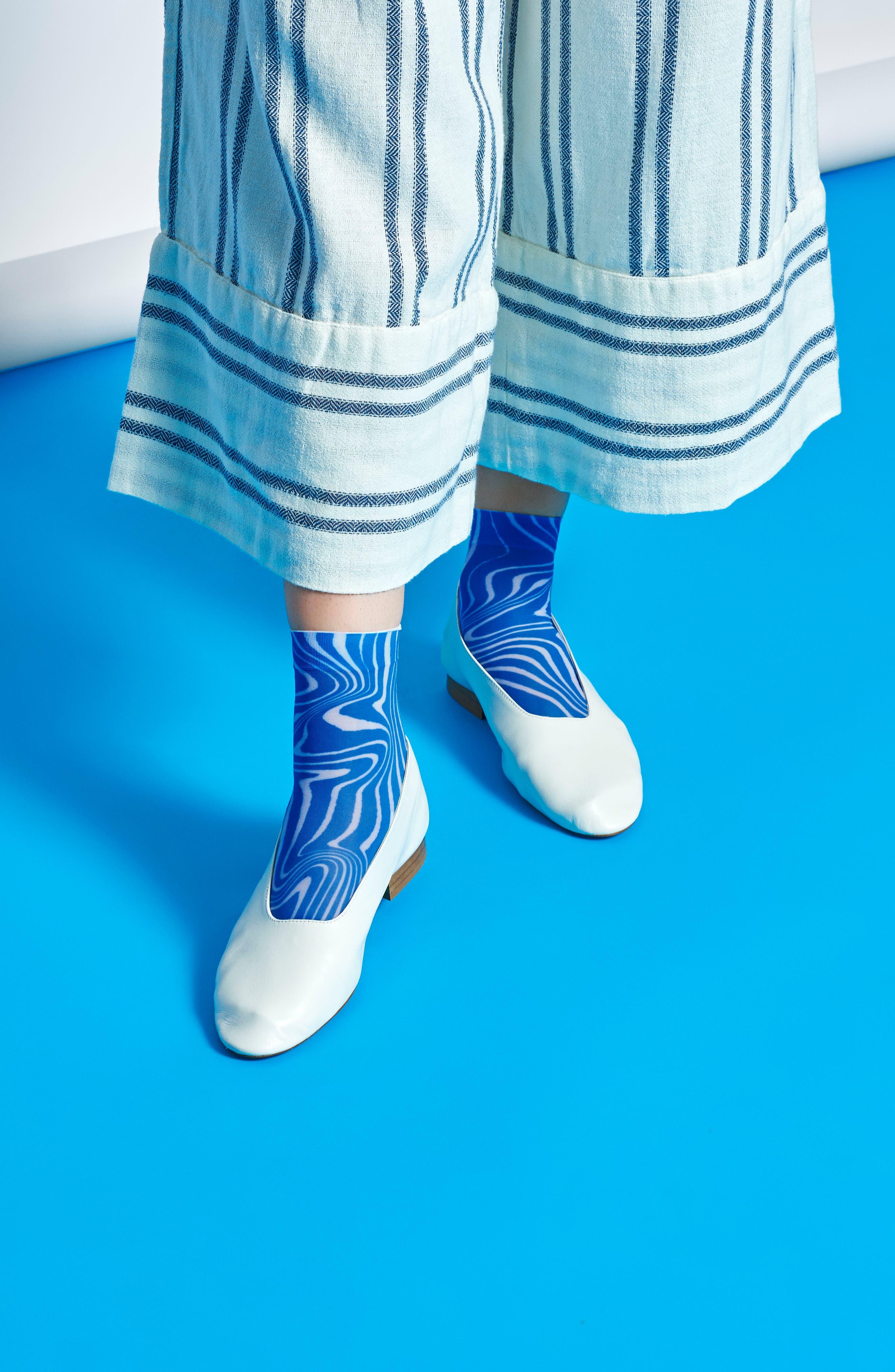 Mia Ankle Socks,                             Alternate thumbnail 5, color,                             BLACK