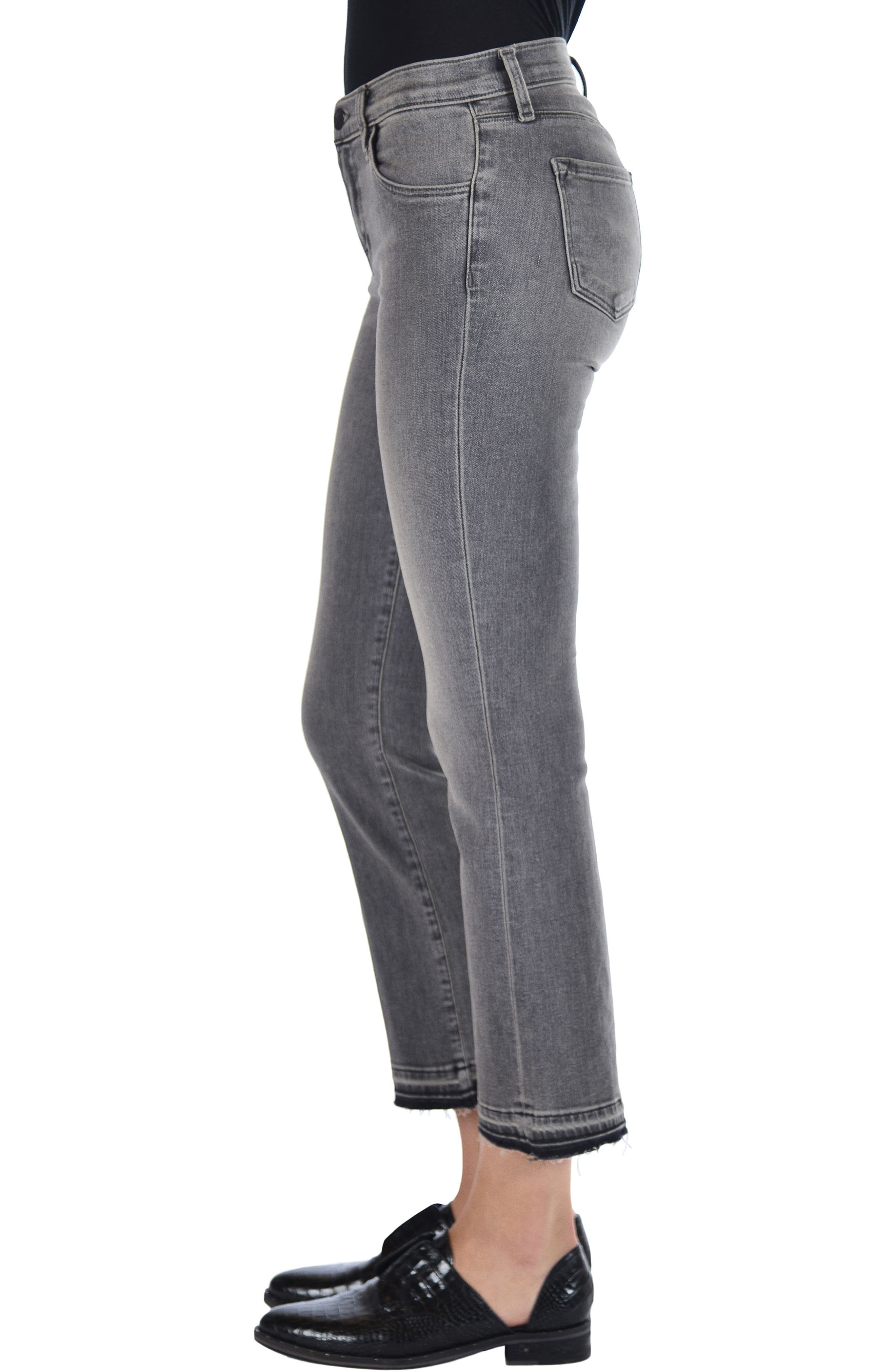 Selena Crop Bootcut Jeans,                             Alternate thumbnail 3, color,                             030