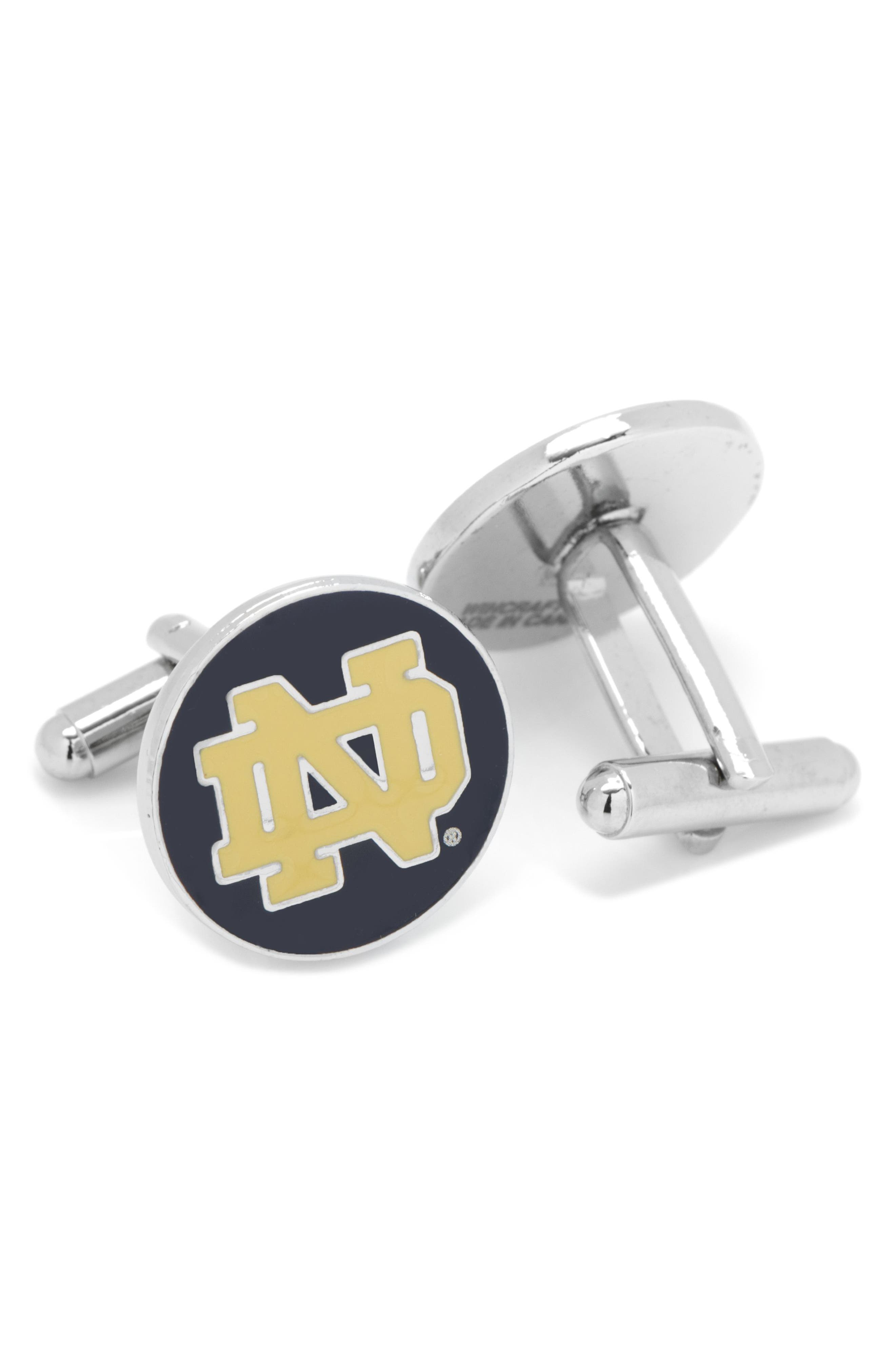 Notre Dame Cuff Links,                             Alternate thumbnail 2, color,                             NAVY