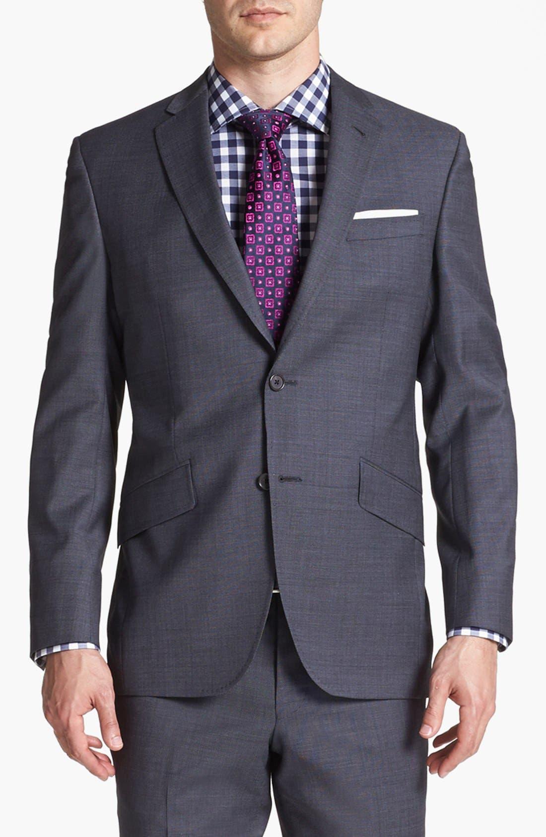 Jones Trim Fit Wool Suit,                             Alternate thumbnail 15, color,