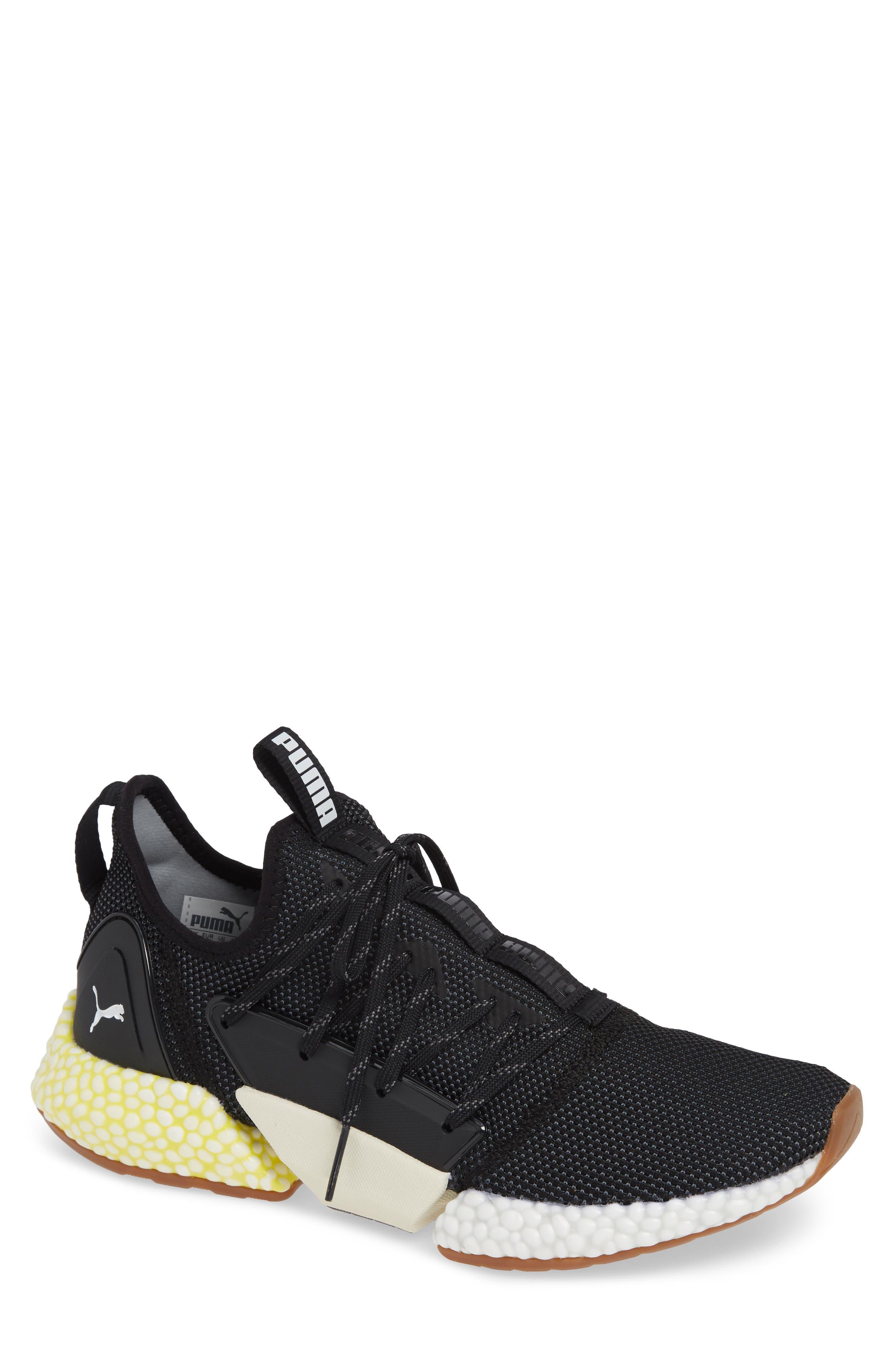 Hybrid Rocket Runner Sneaker,                         Main,                         color, BLACK/ WHITE/ BLAZING YELLOW