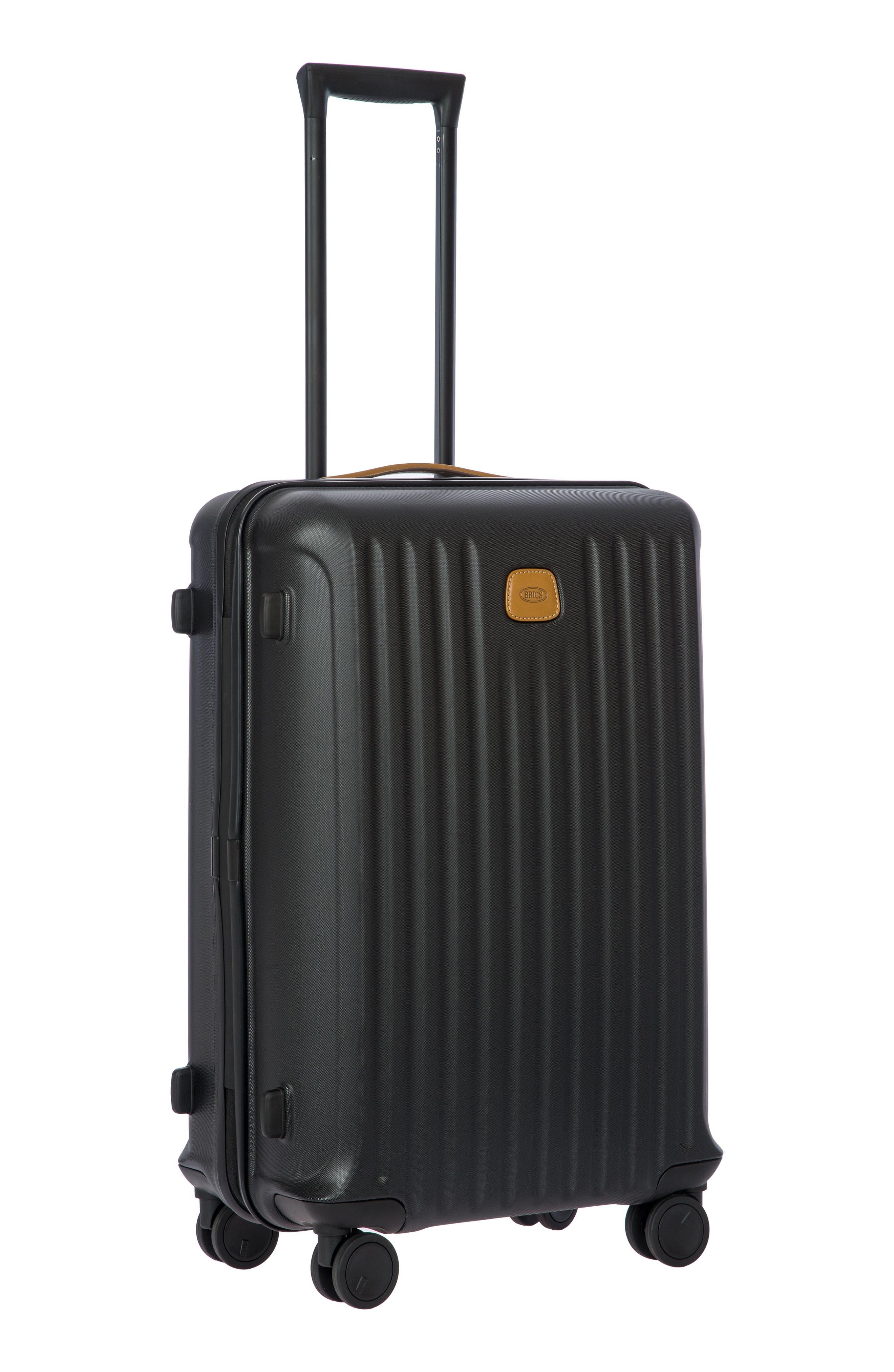 Capri 27-Inch Rolling Suitcase,                             Alternate thumbnail 6, color,                             MATTE BLACK