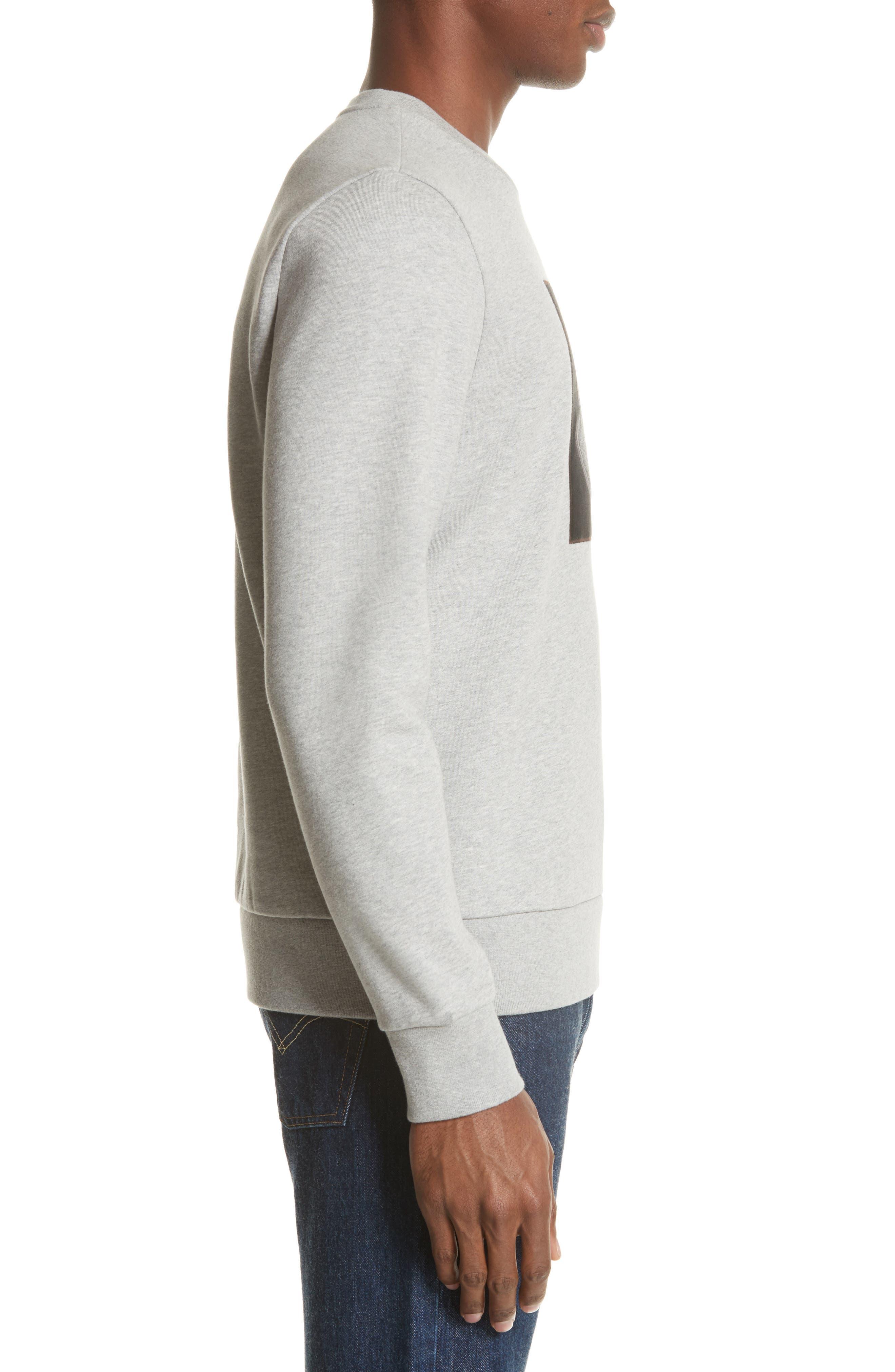 Maglia Bell Crewneck Sweatshirt,                             Alternate thumbnail 3, color,                             GREY