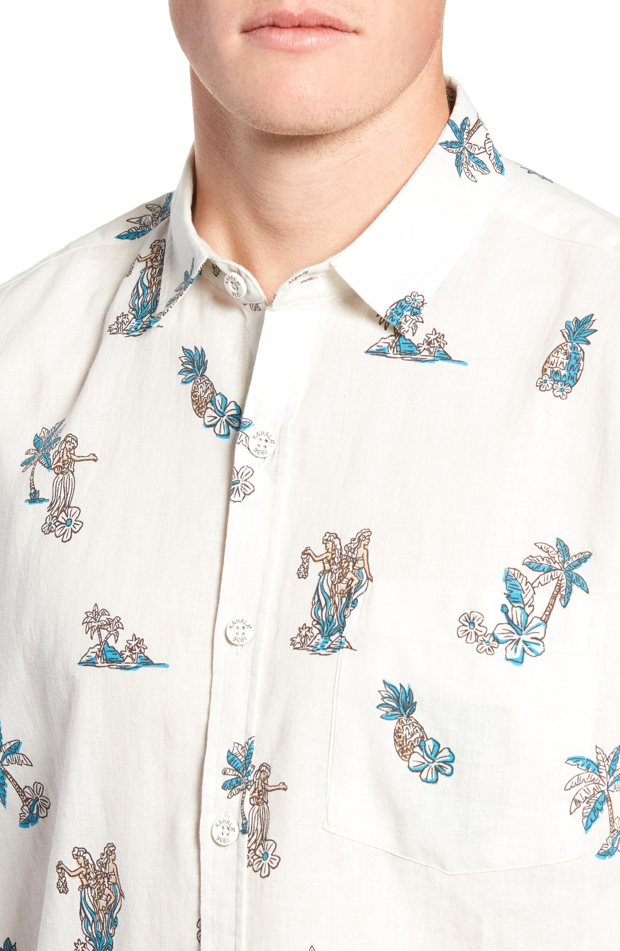 Moku Iki Classic Fit Linen & Cotton Sport Shirt,                             Alternate thumbnail 2, color,                             102