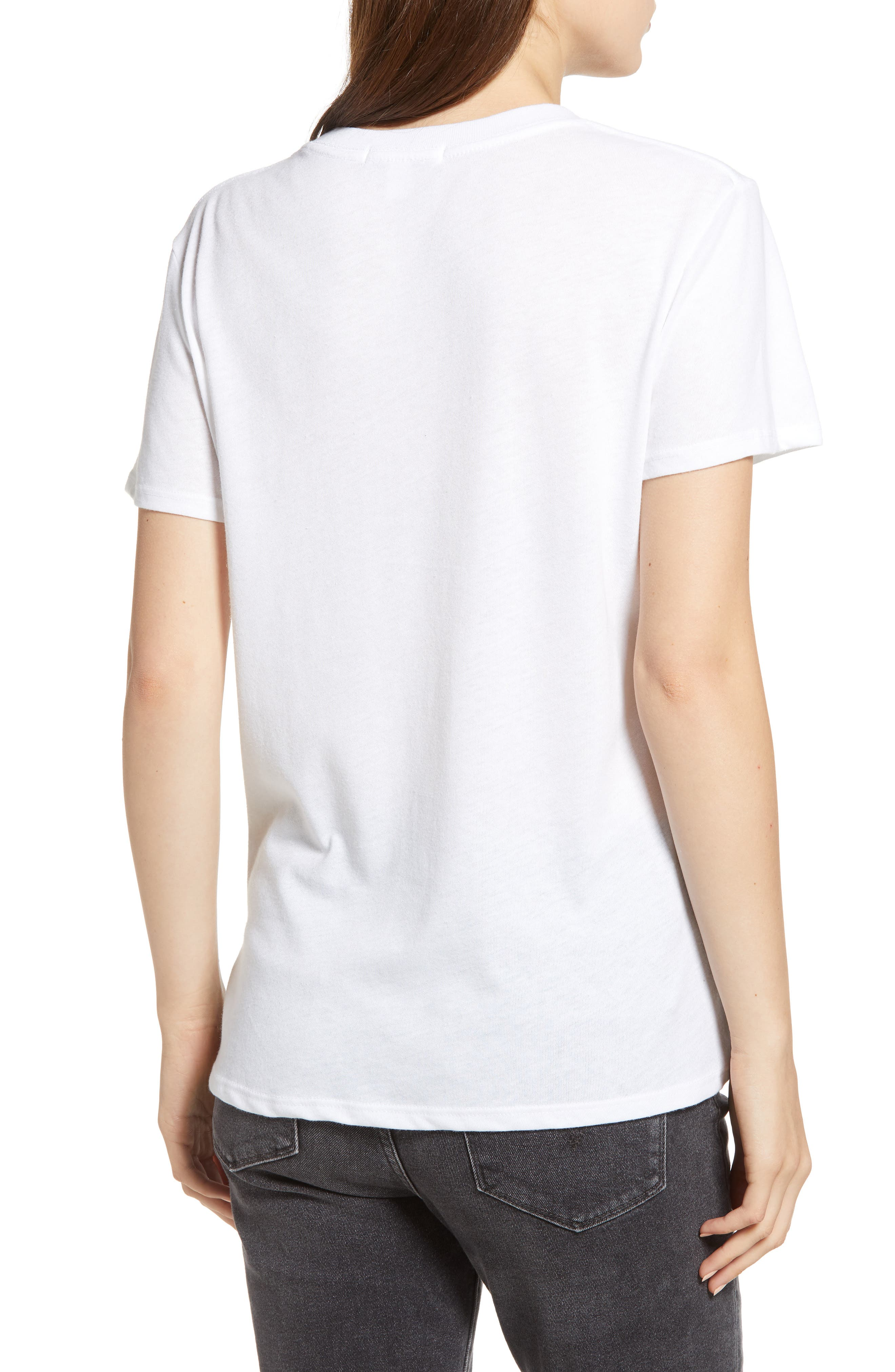 Old Fashioned Slouched Tee,                             Alternate thumbnail 2, color,                             WHITE
