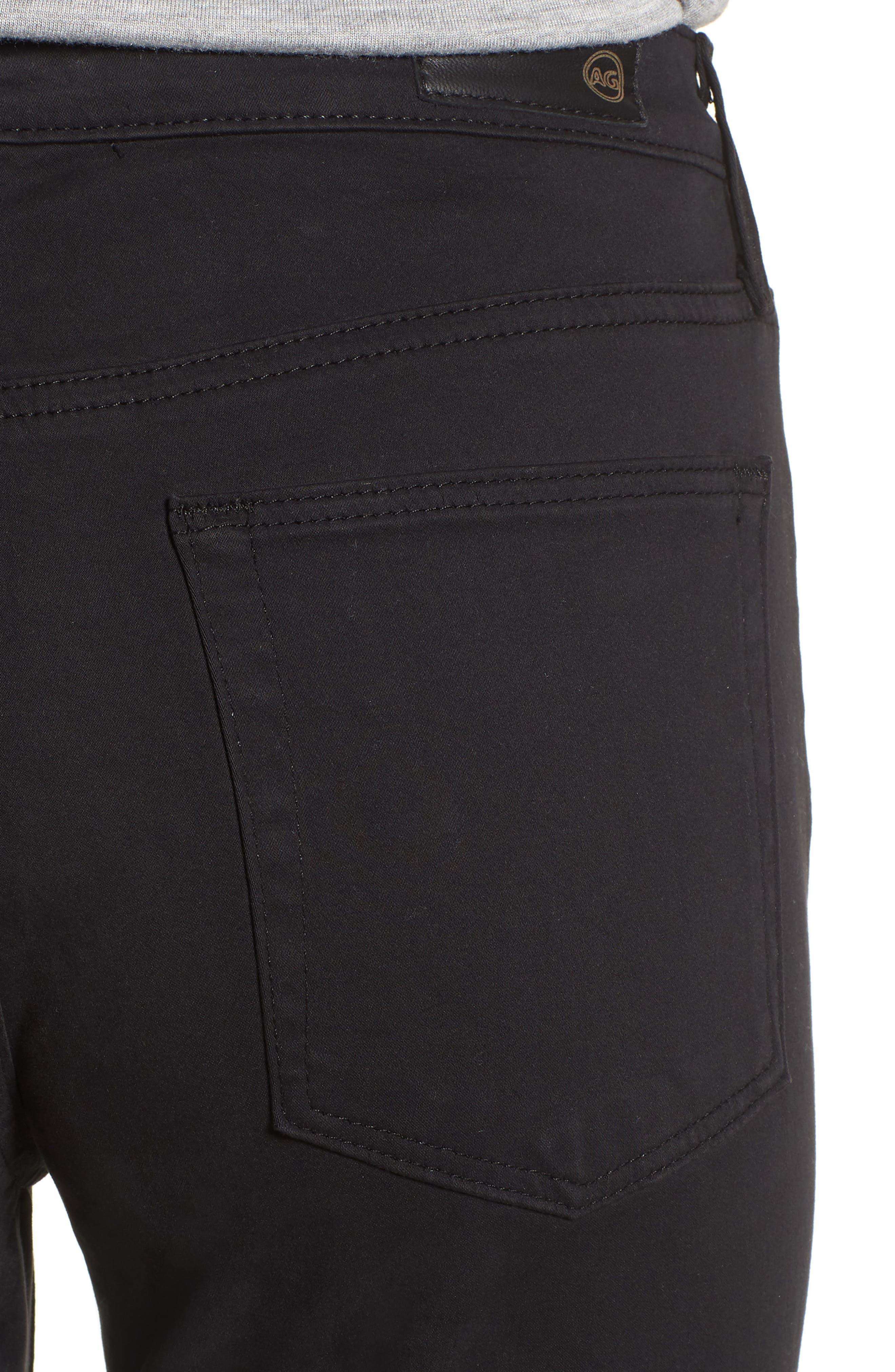 Jodi Sateen Crop Flare Jeans,                             Alternate thumbnail 4, color,                             010
