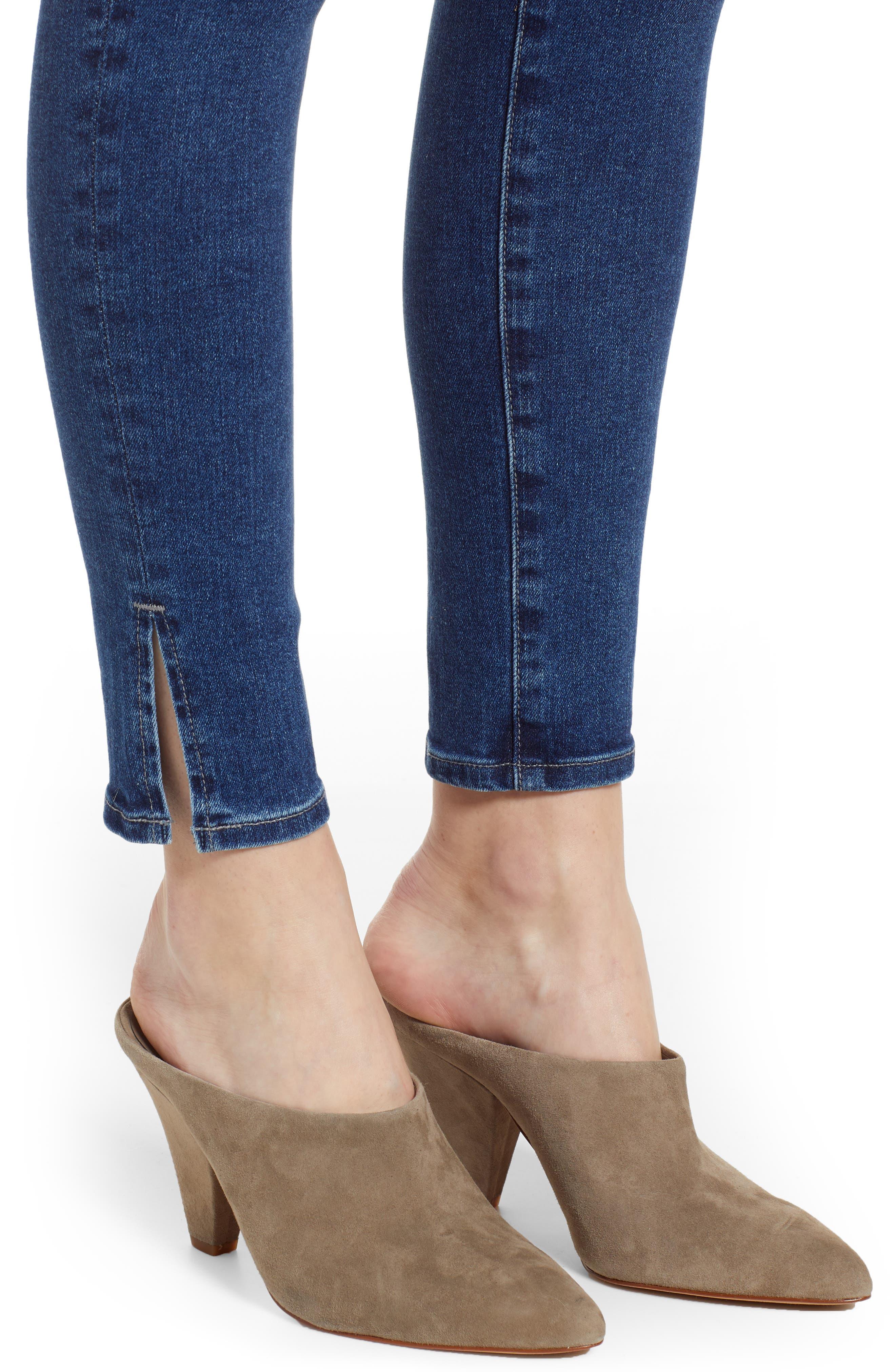 AG,                             The Mila Super High Waist Ankle Skinny Jeans,                             Alternate thumbnail 4, color,                             CRYSTAL CLARITY