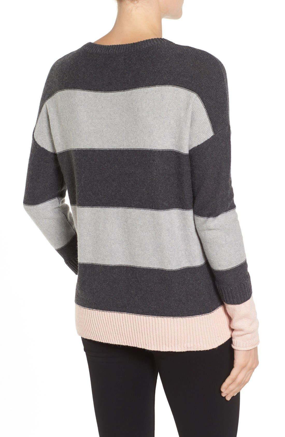 Contrast Cuff Crewneck Sweater,                             Alternate thumbnail 15, color,