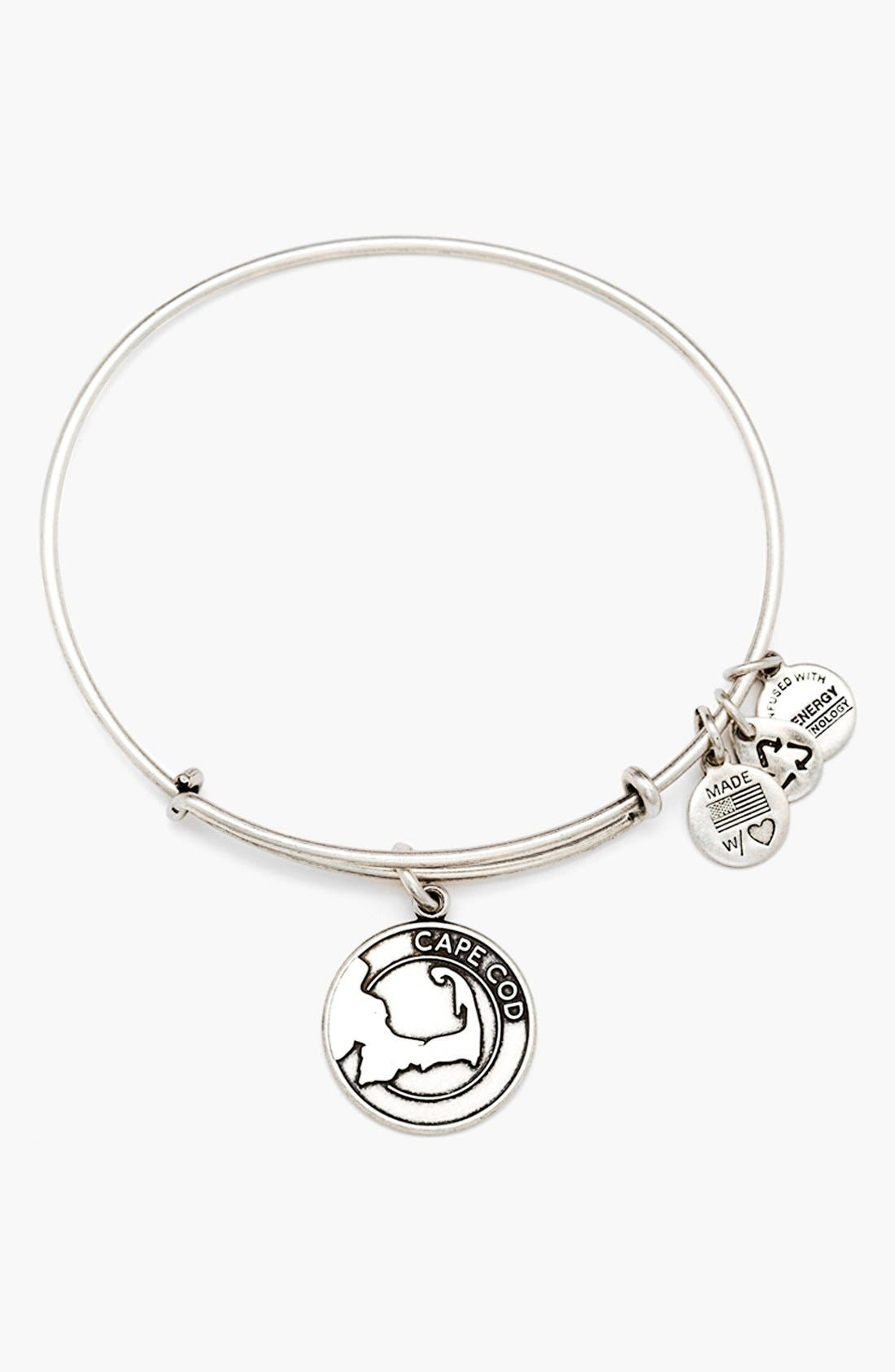 ALEX AND ANI 'Cape Cod' Expandable Wire Bangle, Main, color, 040