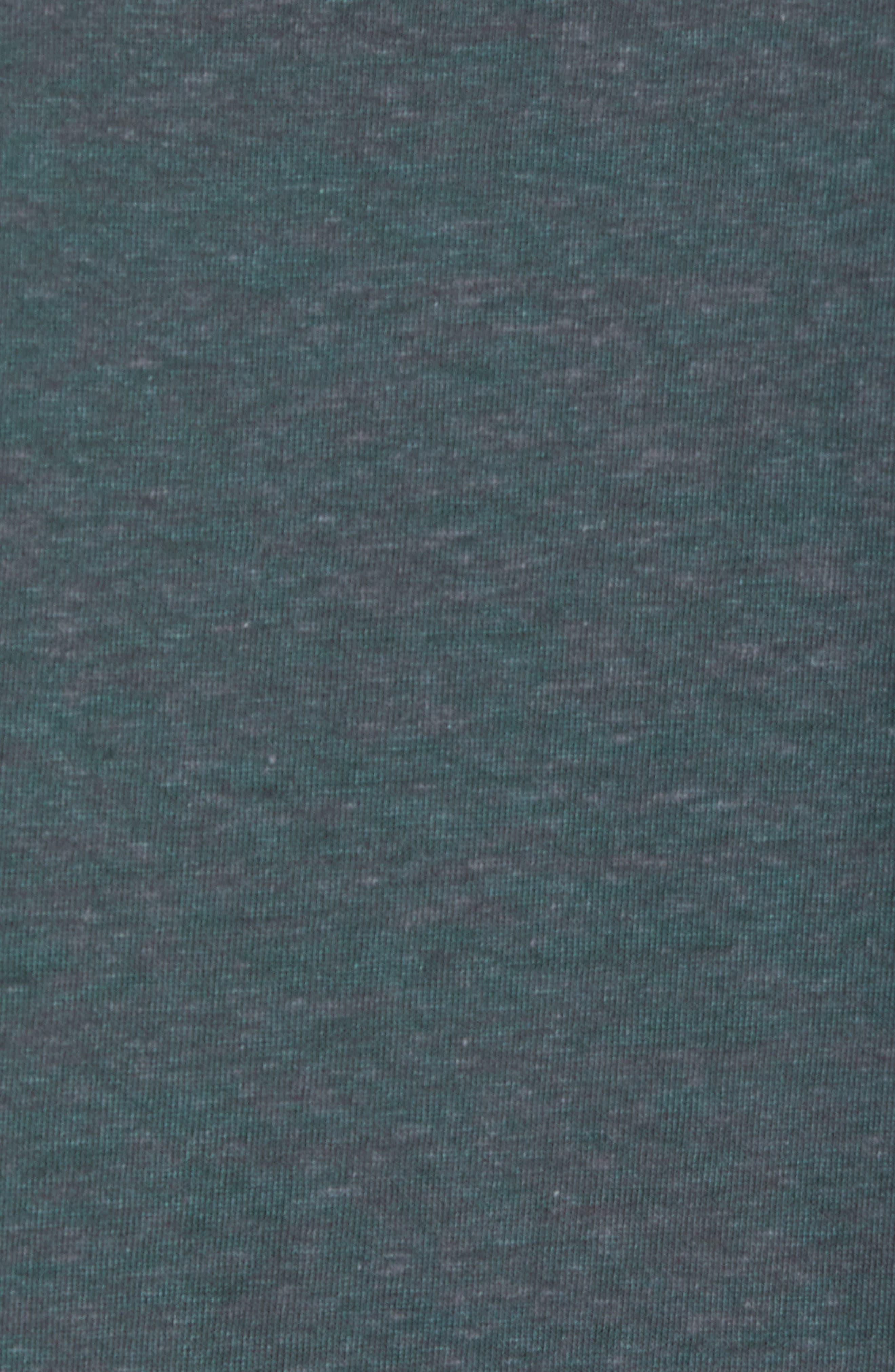 Burnout Raw Edge V-Neck T-Shirt,                             Alternate thumbnail 5, color,                             310