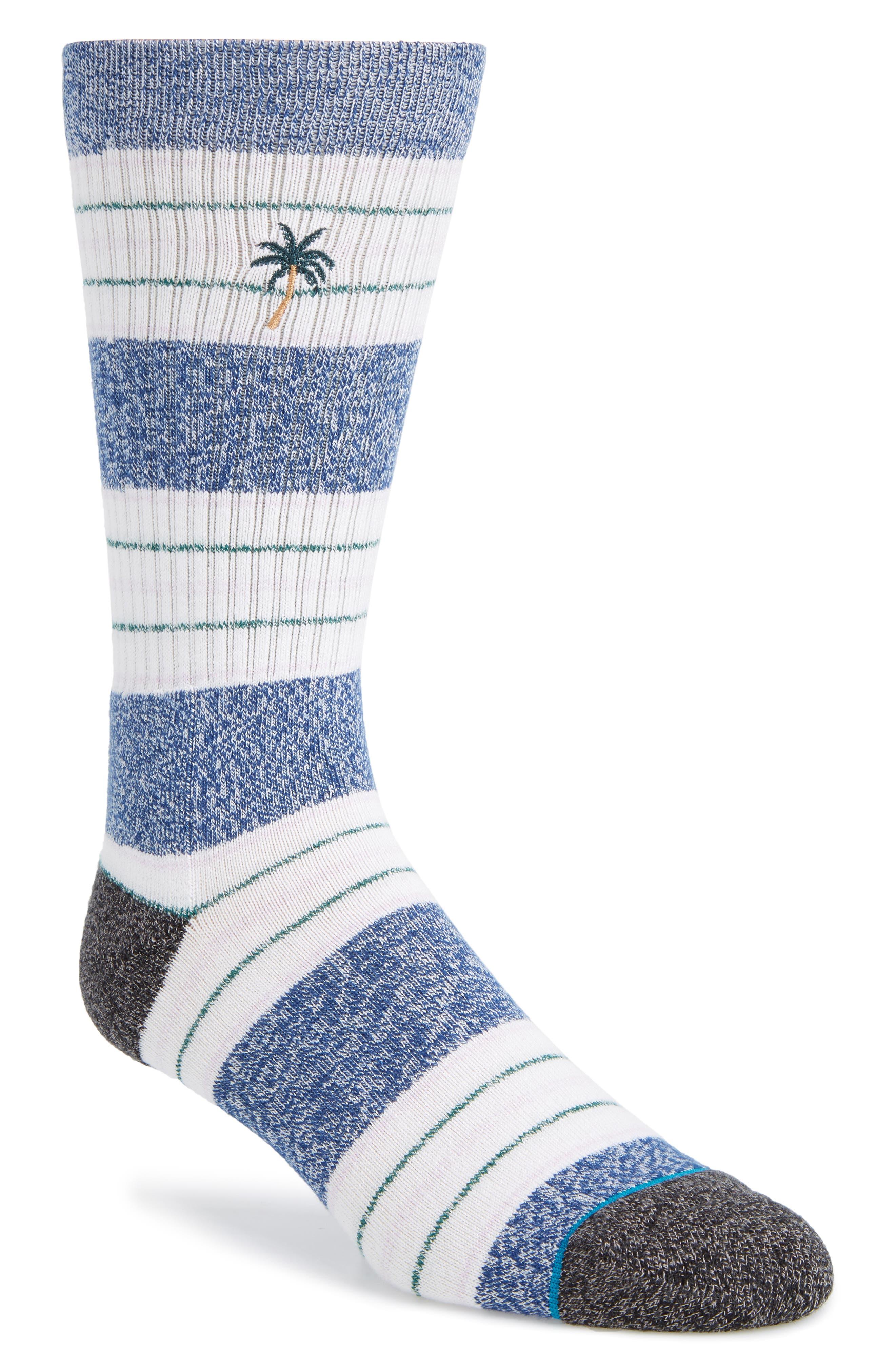 Shade Stripe Socks,                         Main,                         color, NAVY