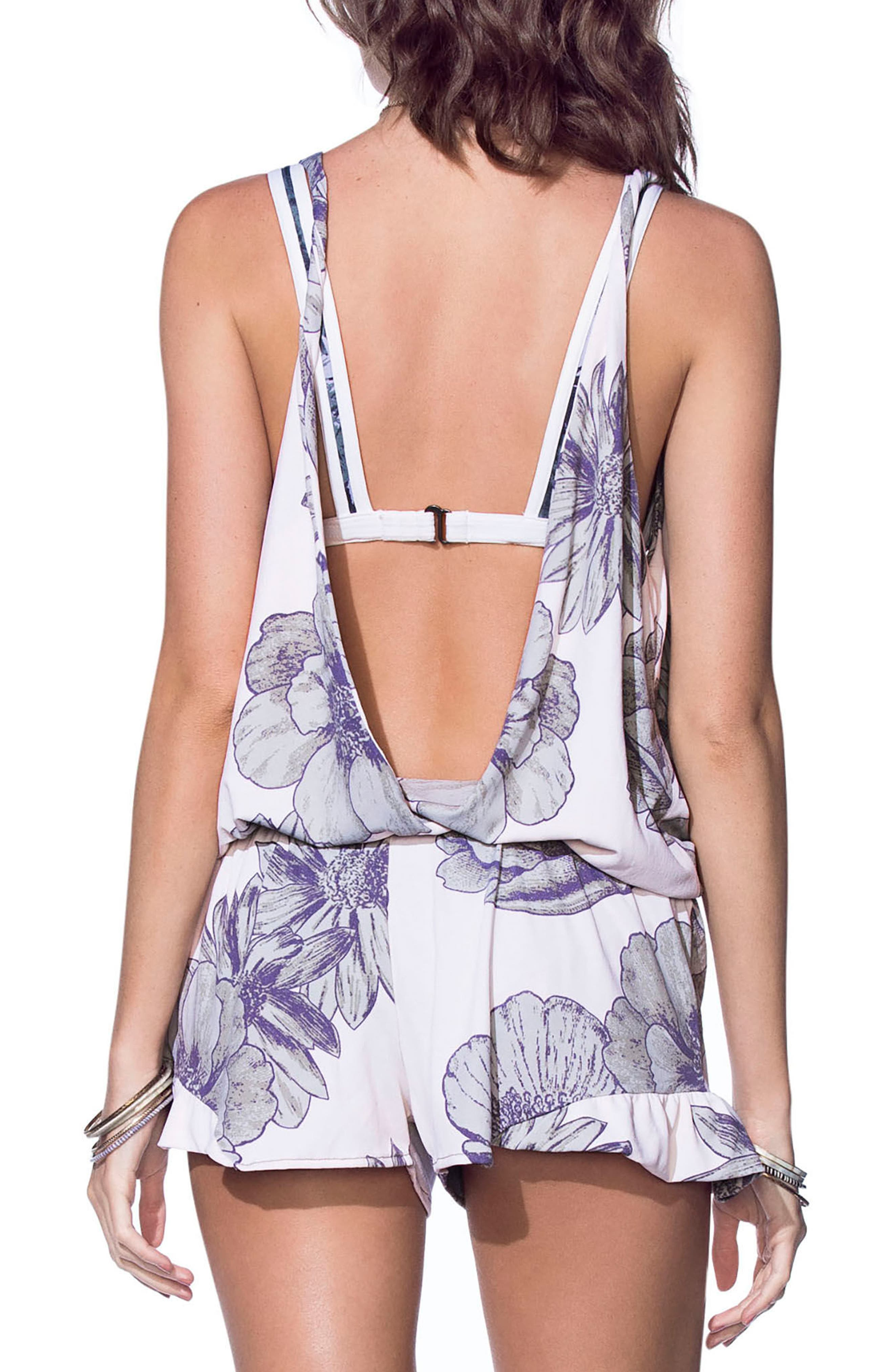 Shooting Star Cover-Up Romper,                             Alternate thumbnail 2, color,                             100