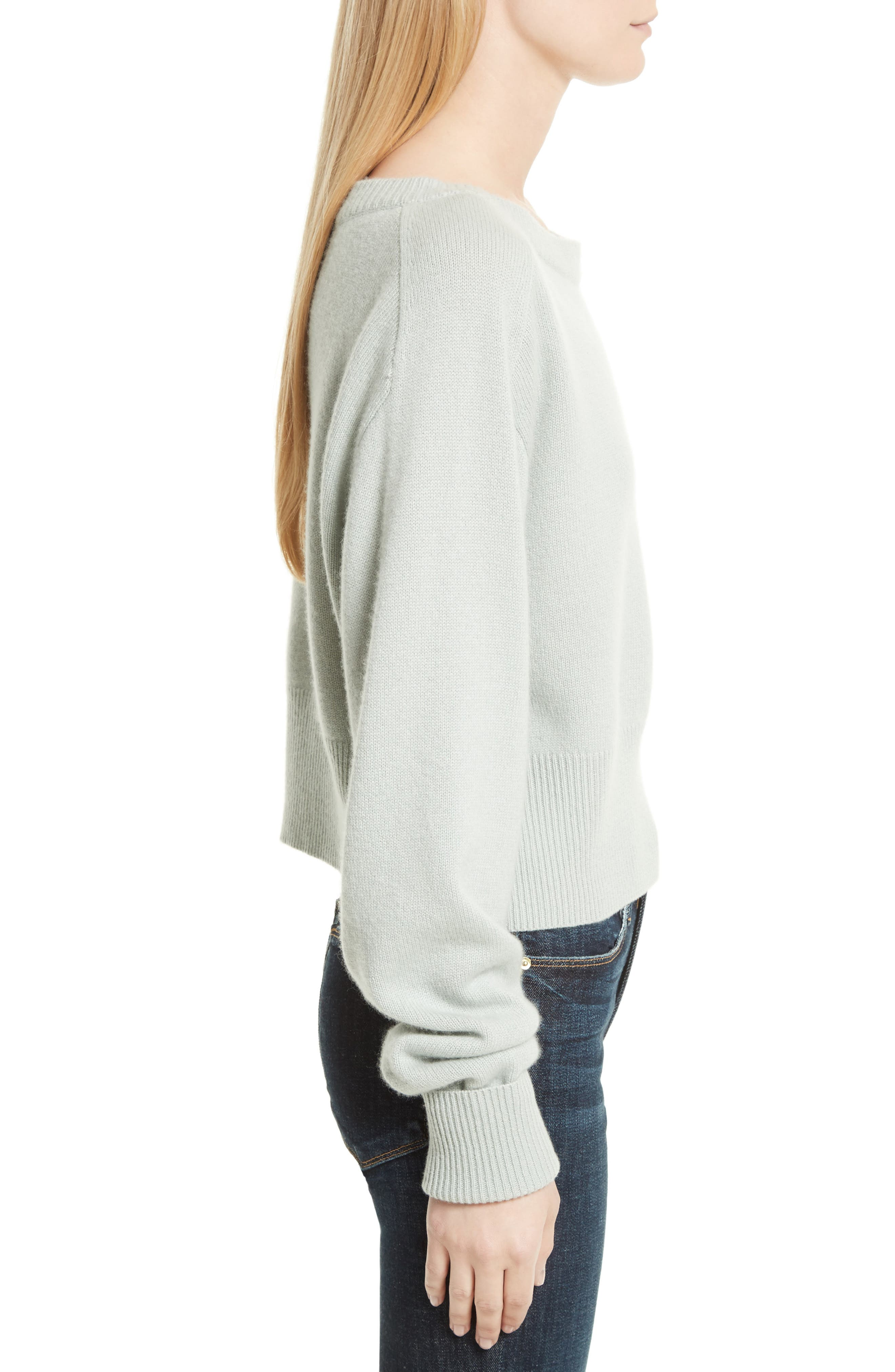 THEORY,                             Boat Neck Cashmere Sweater,                             Alternate thumbnail 3, color,                             374