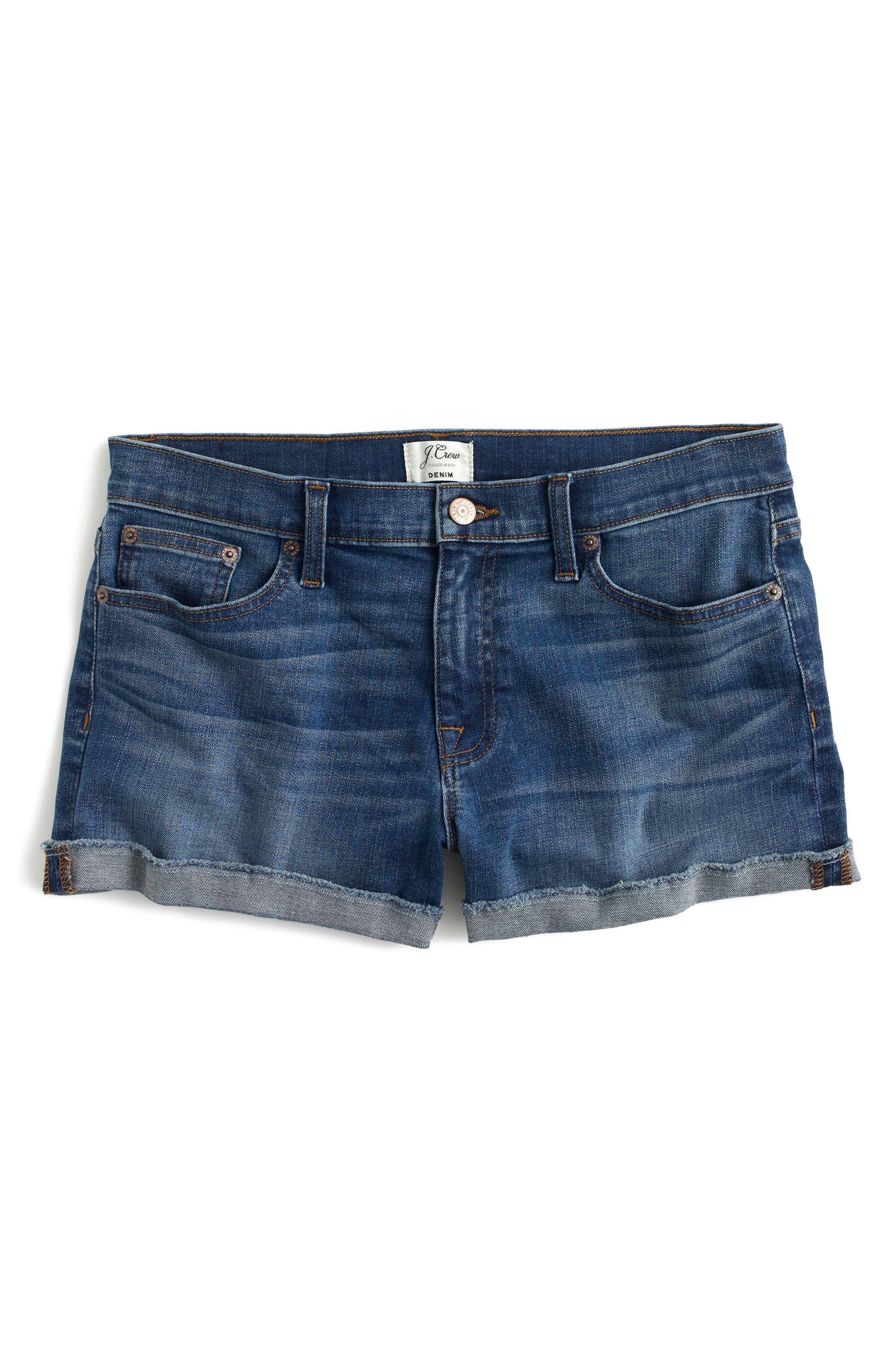 Midrise Denim Shorts,                             Alternate thumbnail 2, color,                             400
