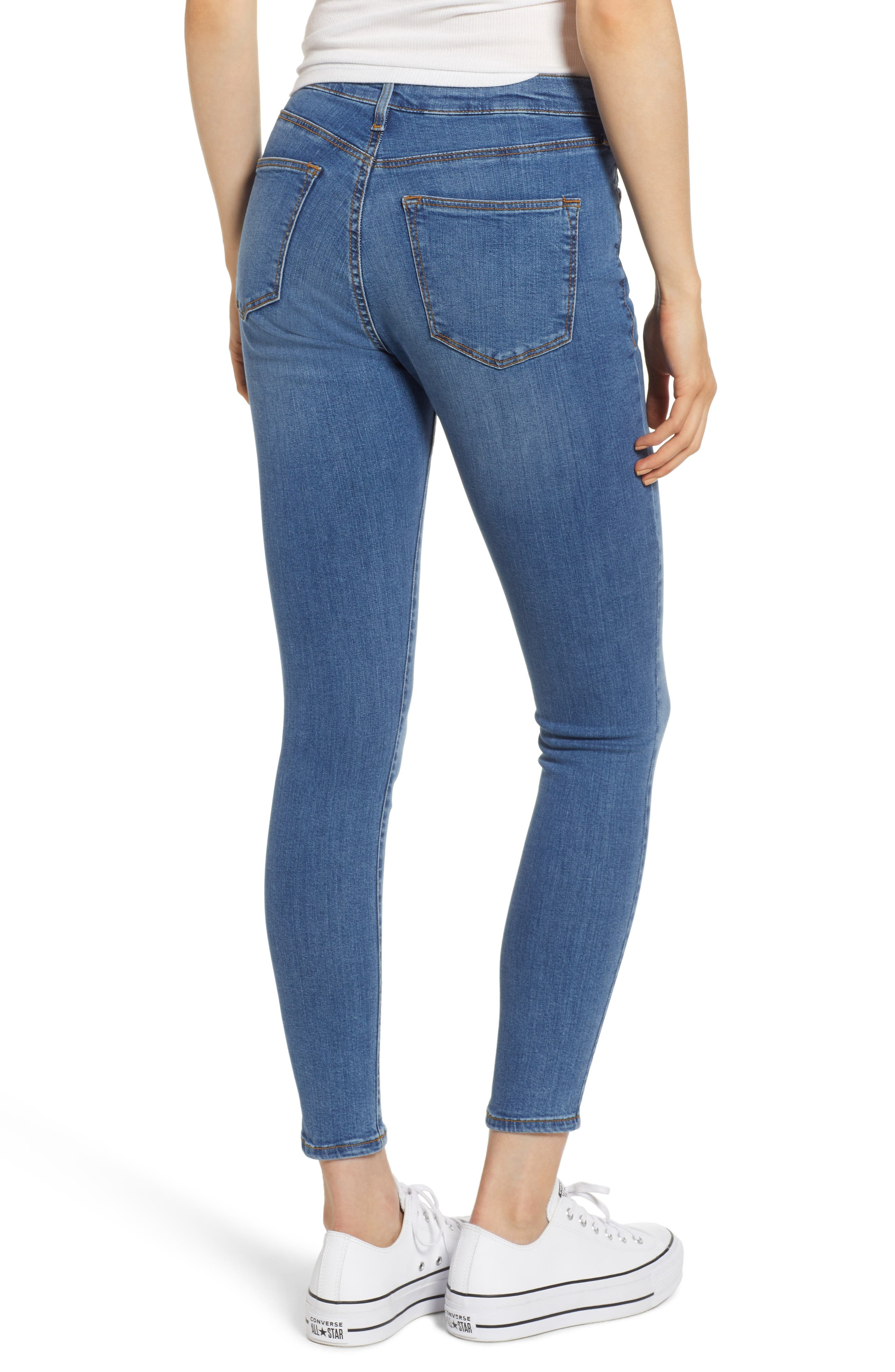 MOTO Sidney Stretch Skinny Jeans,                             Alternate thumbnail 4, color,