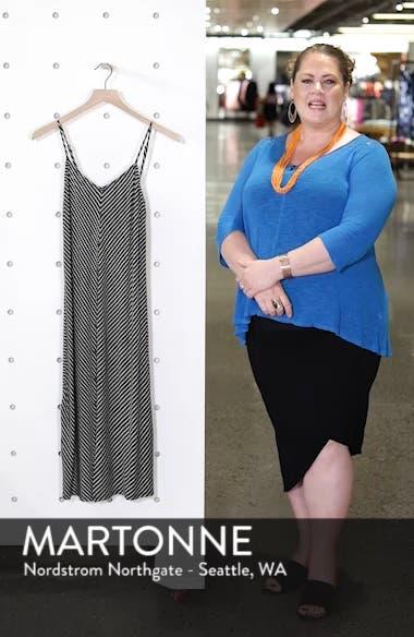 Chevron Stripe Midi Dress, sales video thumbnail
