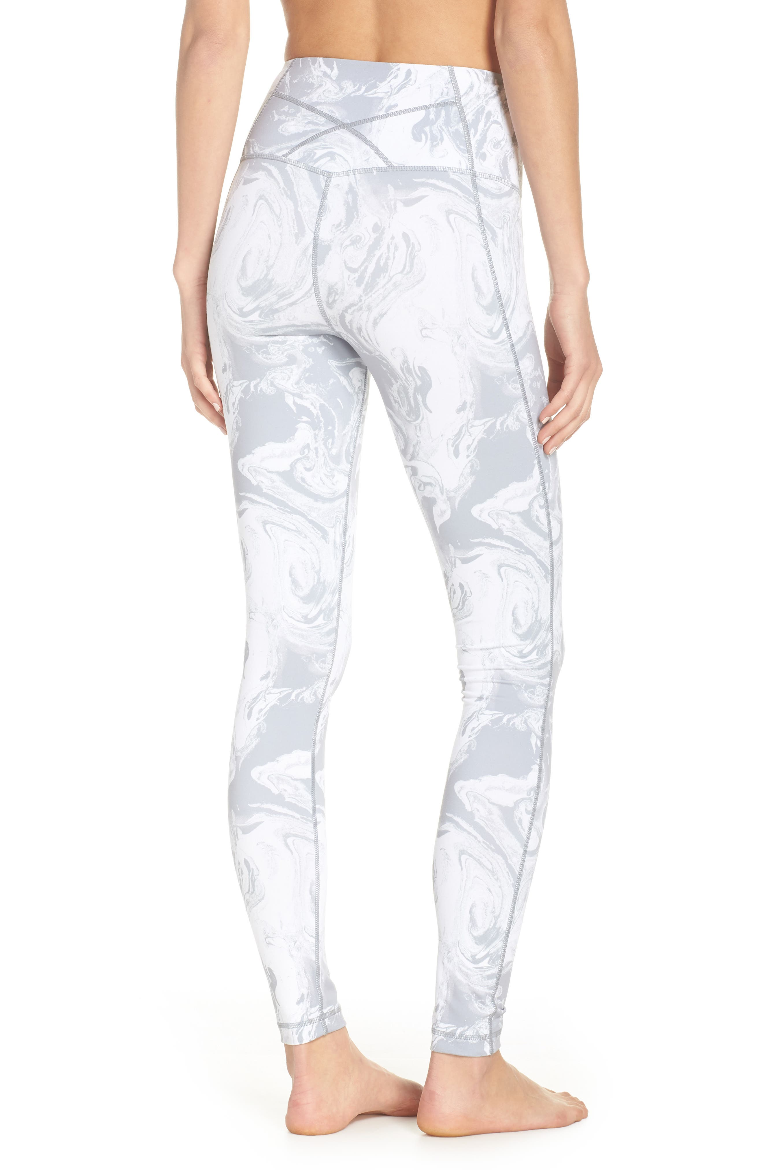Live In High Waist Leggings,                             Alternate thumbnail 2, color,                             GREY SCONCE PRETTY MARBLE