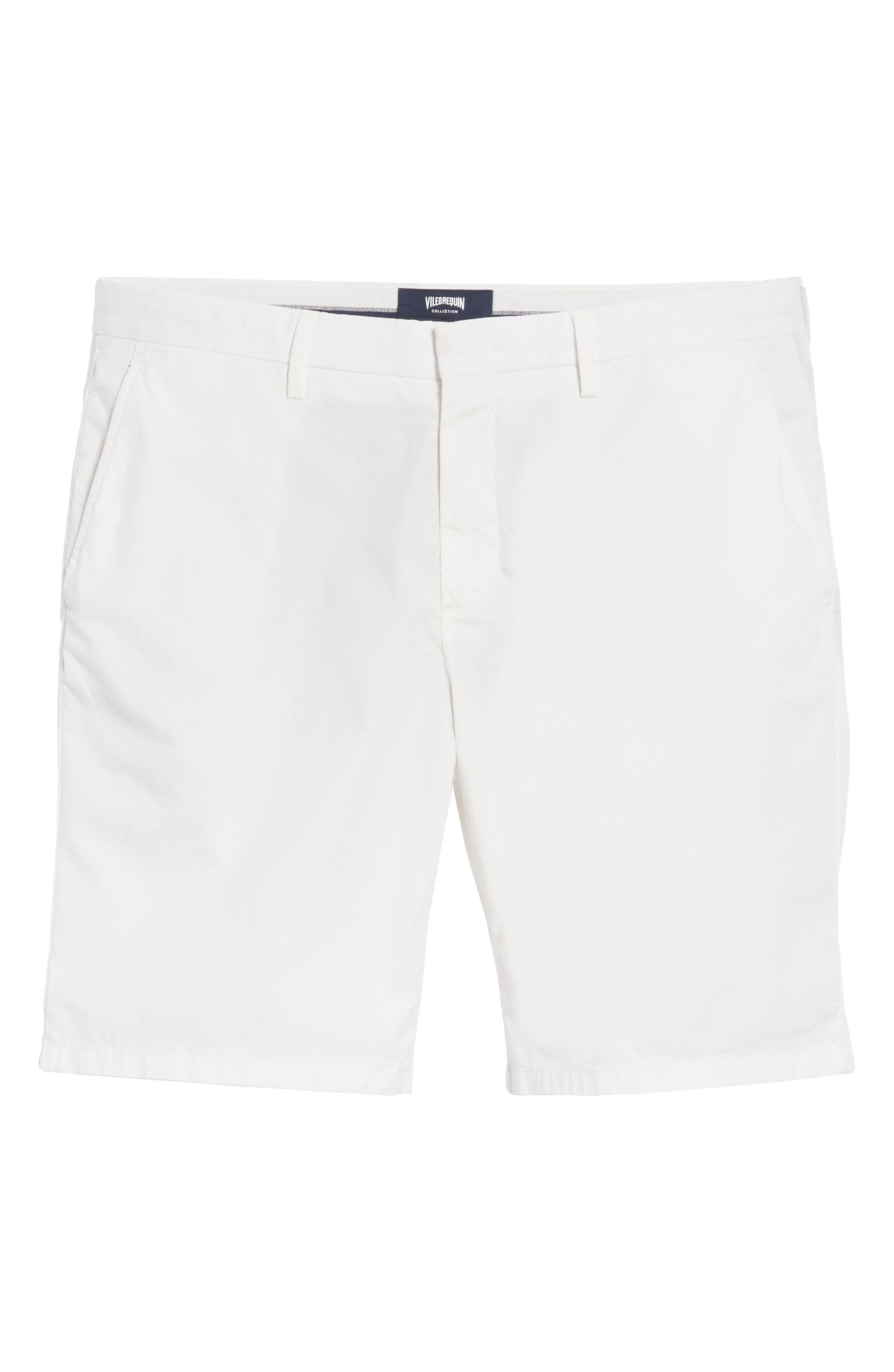 Poplin Chino Shorts,                             Alternate thumbnail 6, color,                             CANVAS
