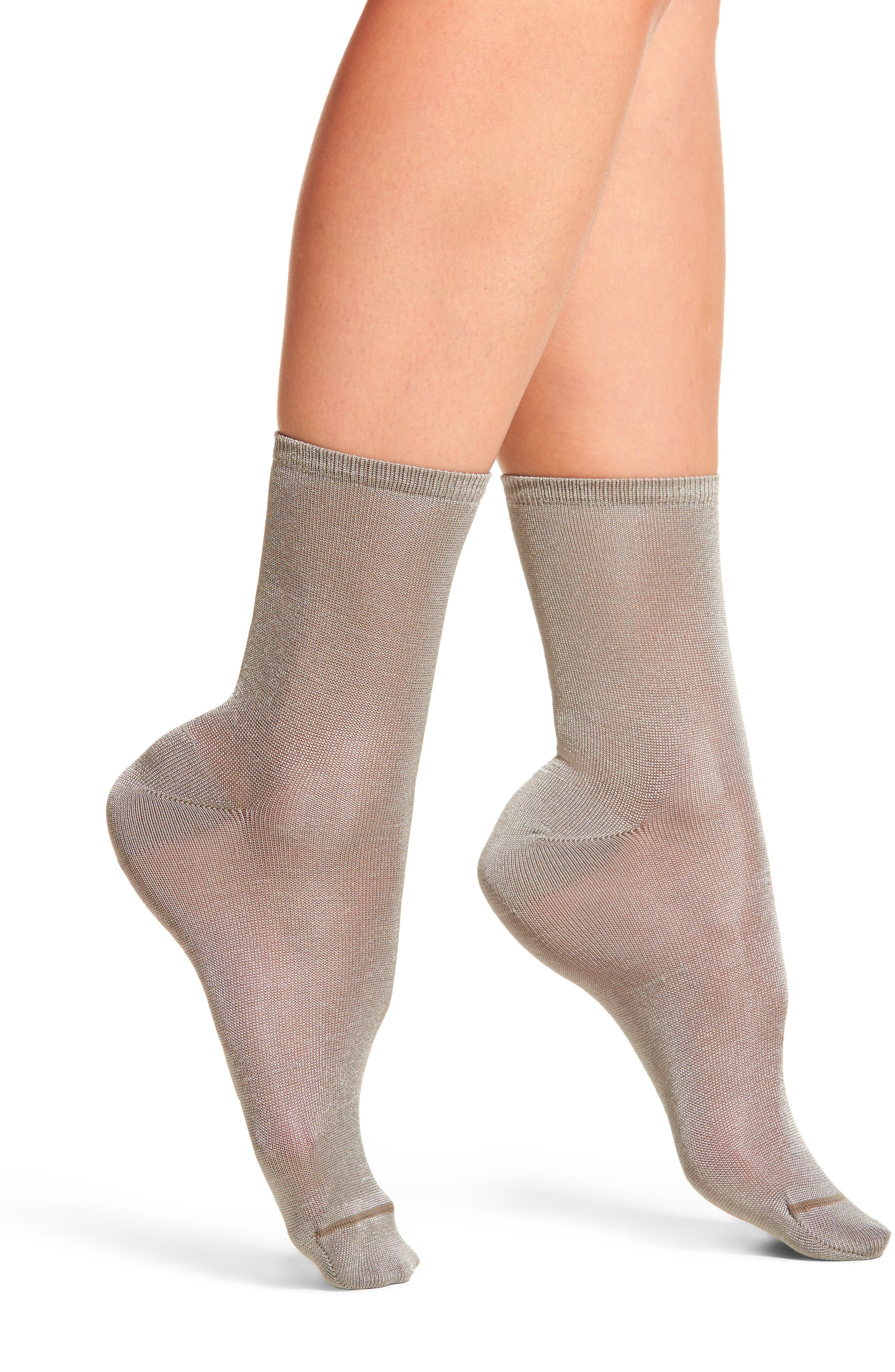Sweetly Sheer Ankle Socks,                             Main thumbnail 1, color,                             020