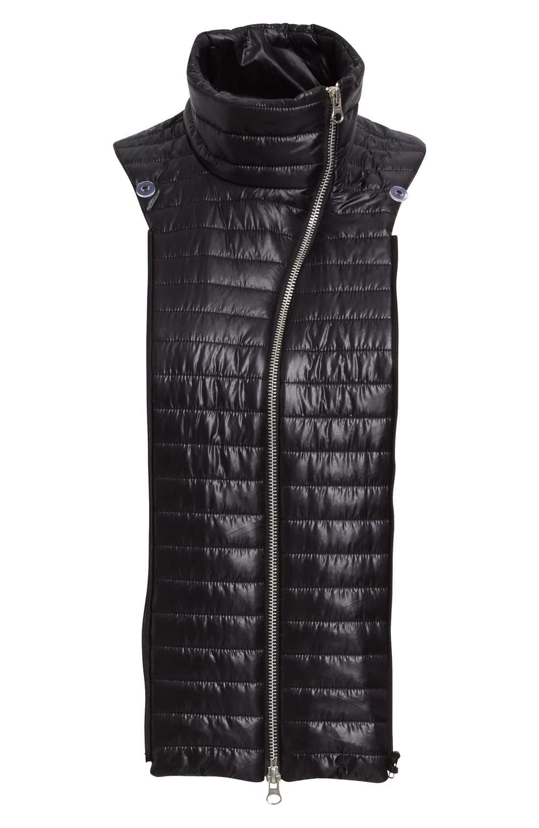 Quilted Funnel Neck Dickey,                             Main thumbnail 1, color,                             001