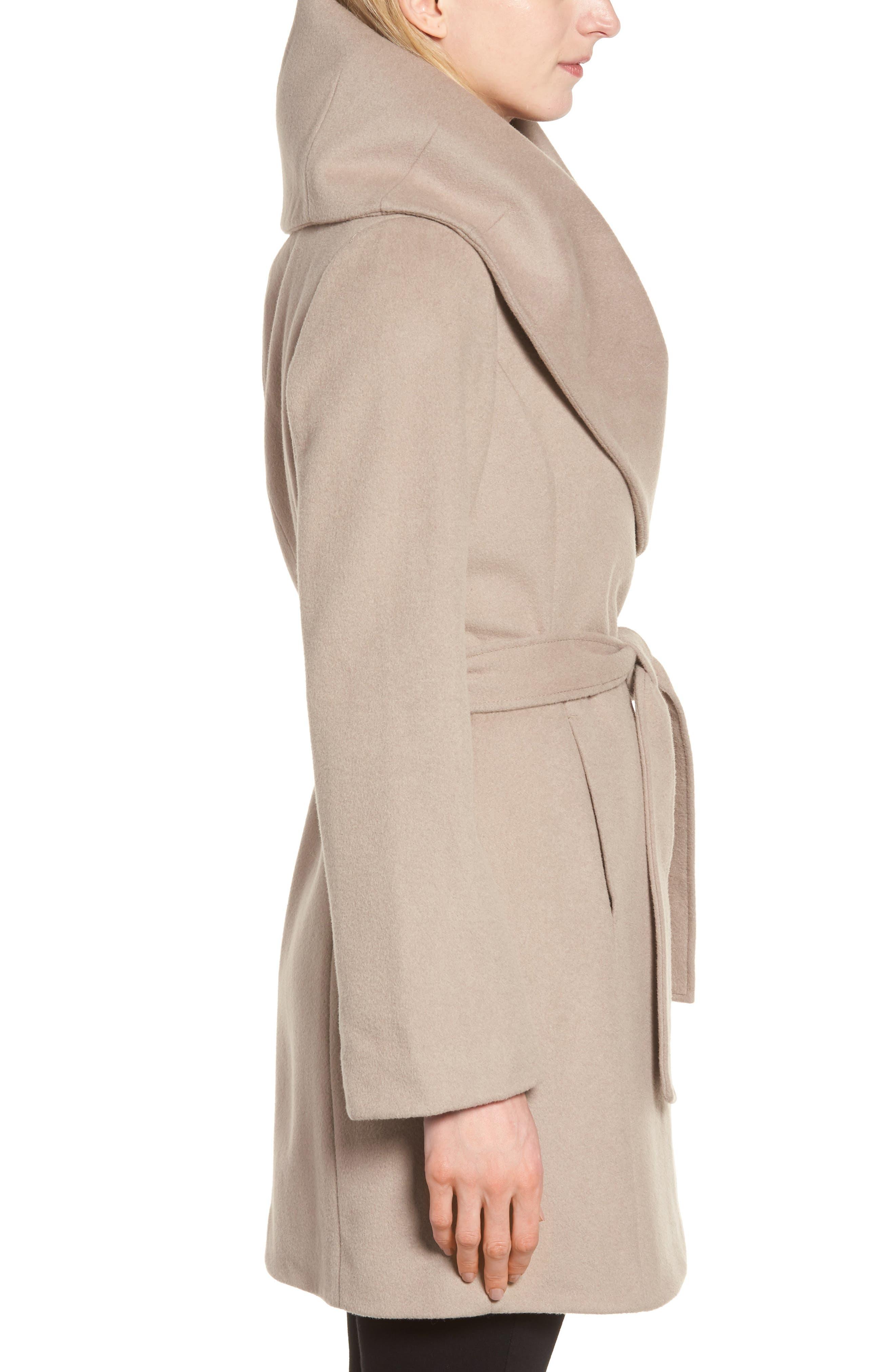 T Tahari Wool Blend Belted Wrap Coat,                             Alternate thumbnail 23, color,
