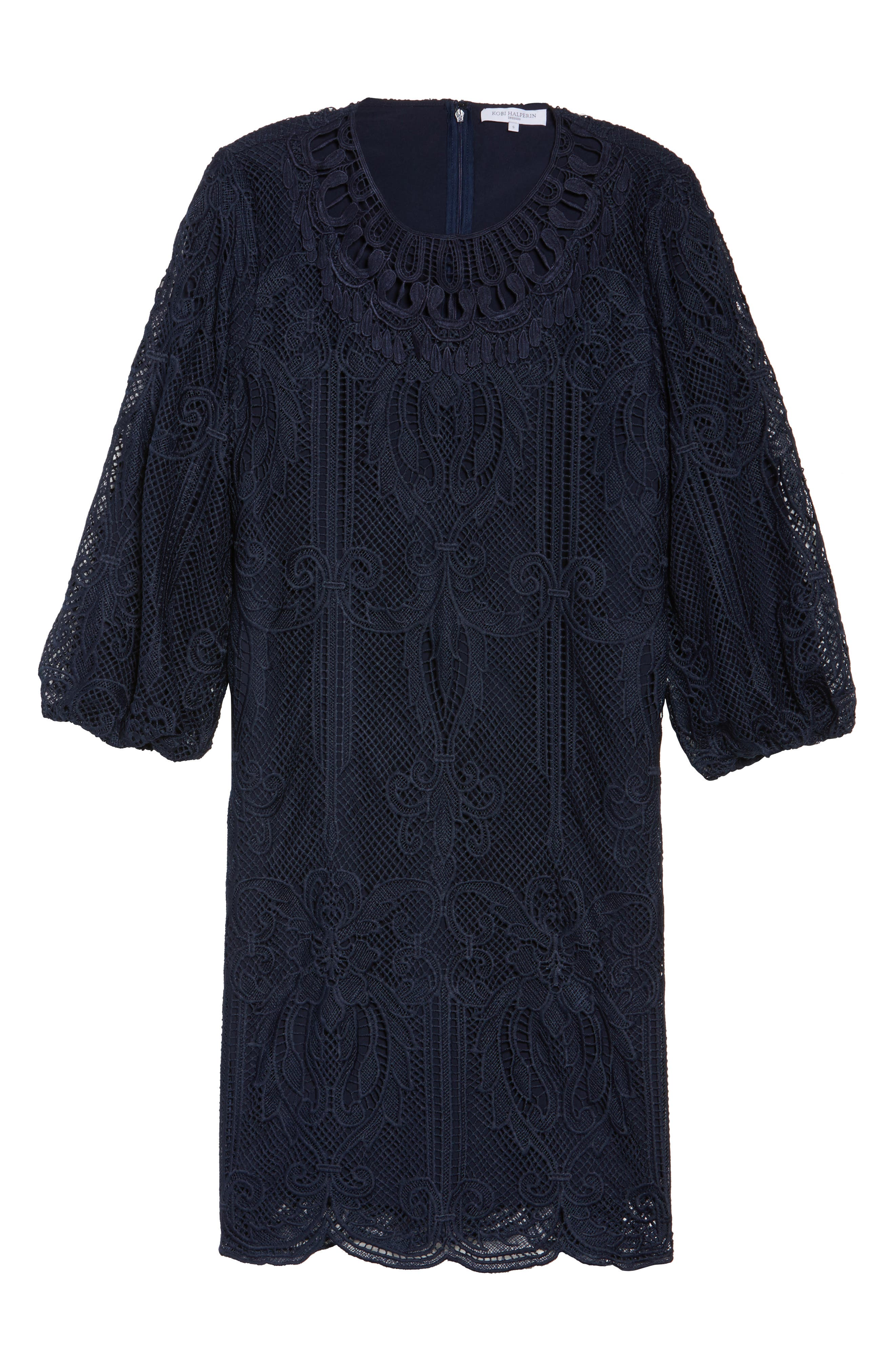 Kandace Lace Shift Dress,                             Alternate thumbnail 12, color,