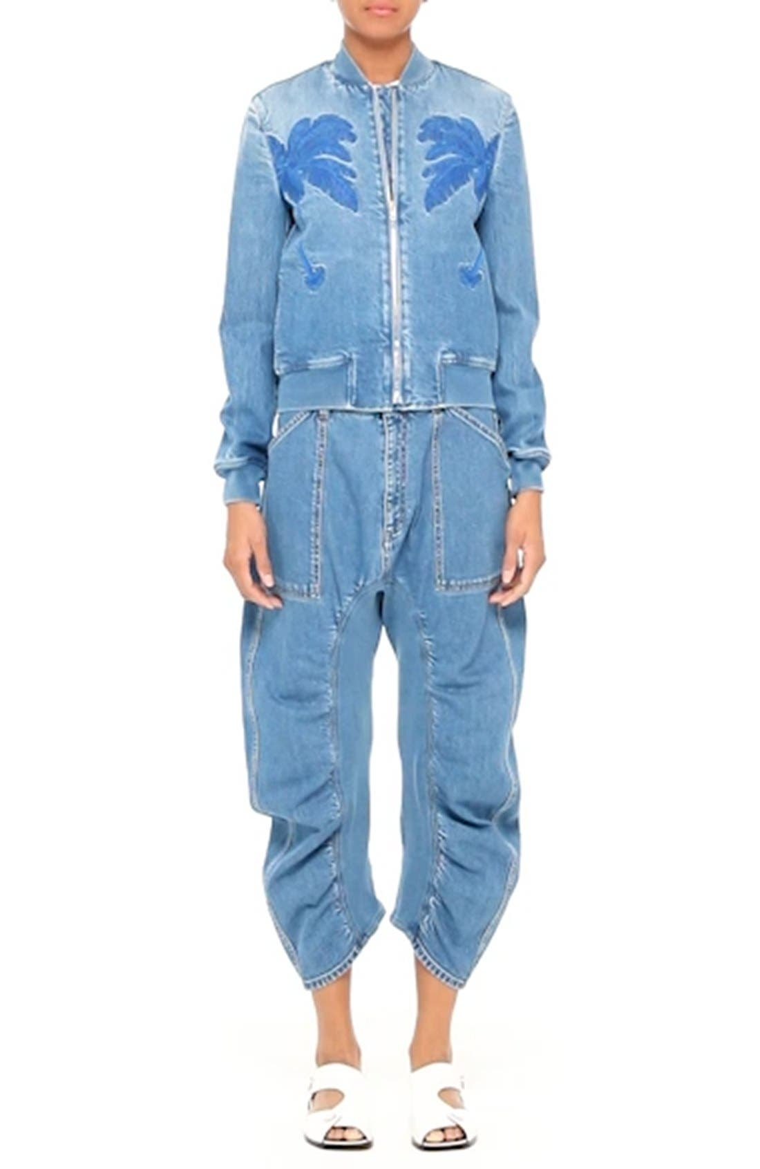 Xenia Ruched Crop Jeans,                             Alternate thumbnail 7, color,                             400