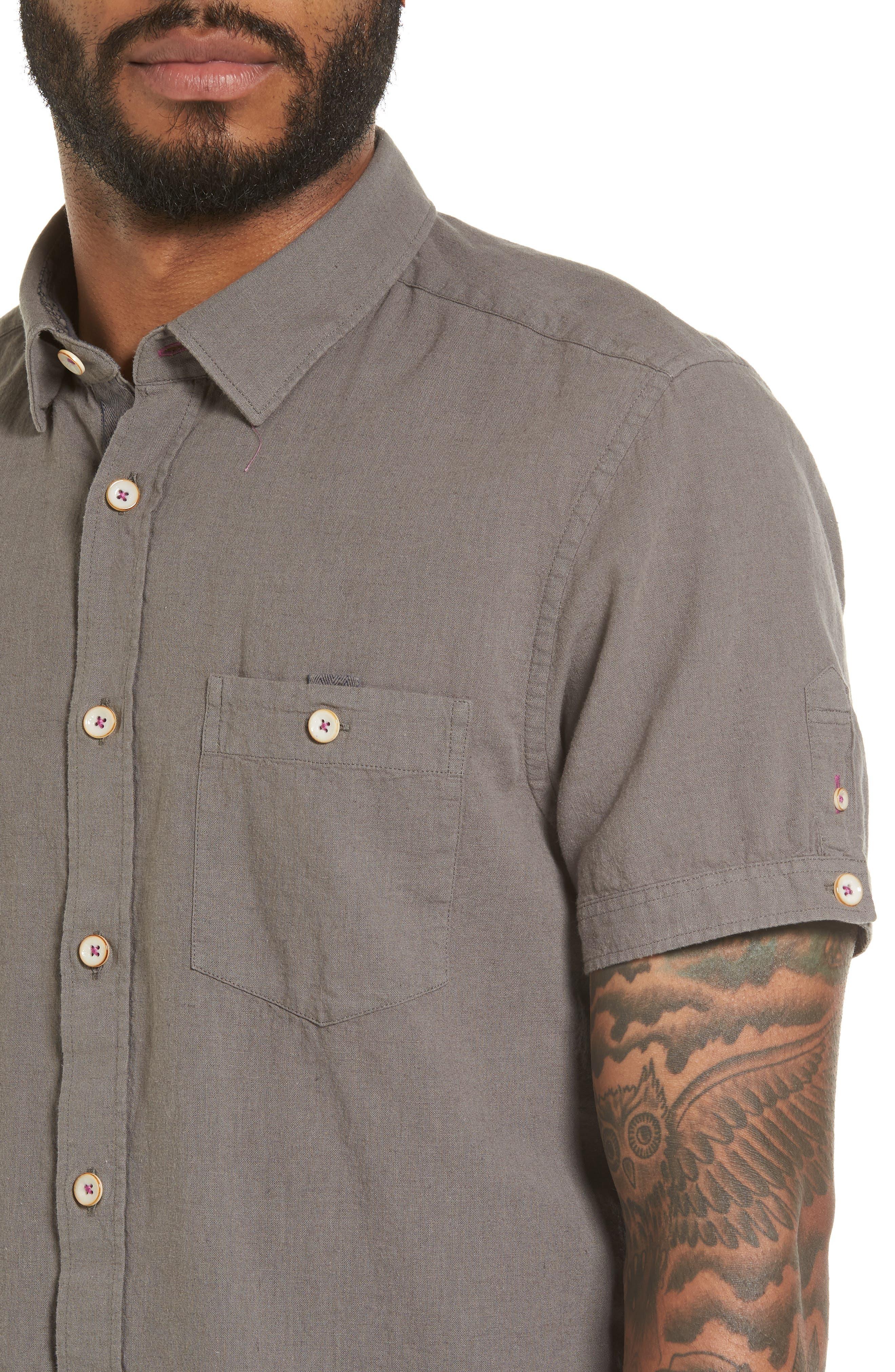 Shrwash Modern Slim Fit Sport Shirt,                             Alternate thumbnail 4, color,                             030