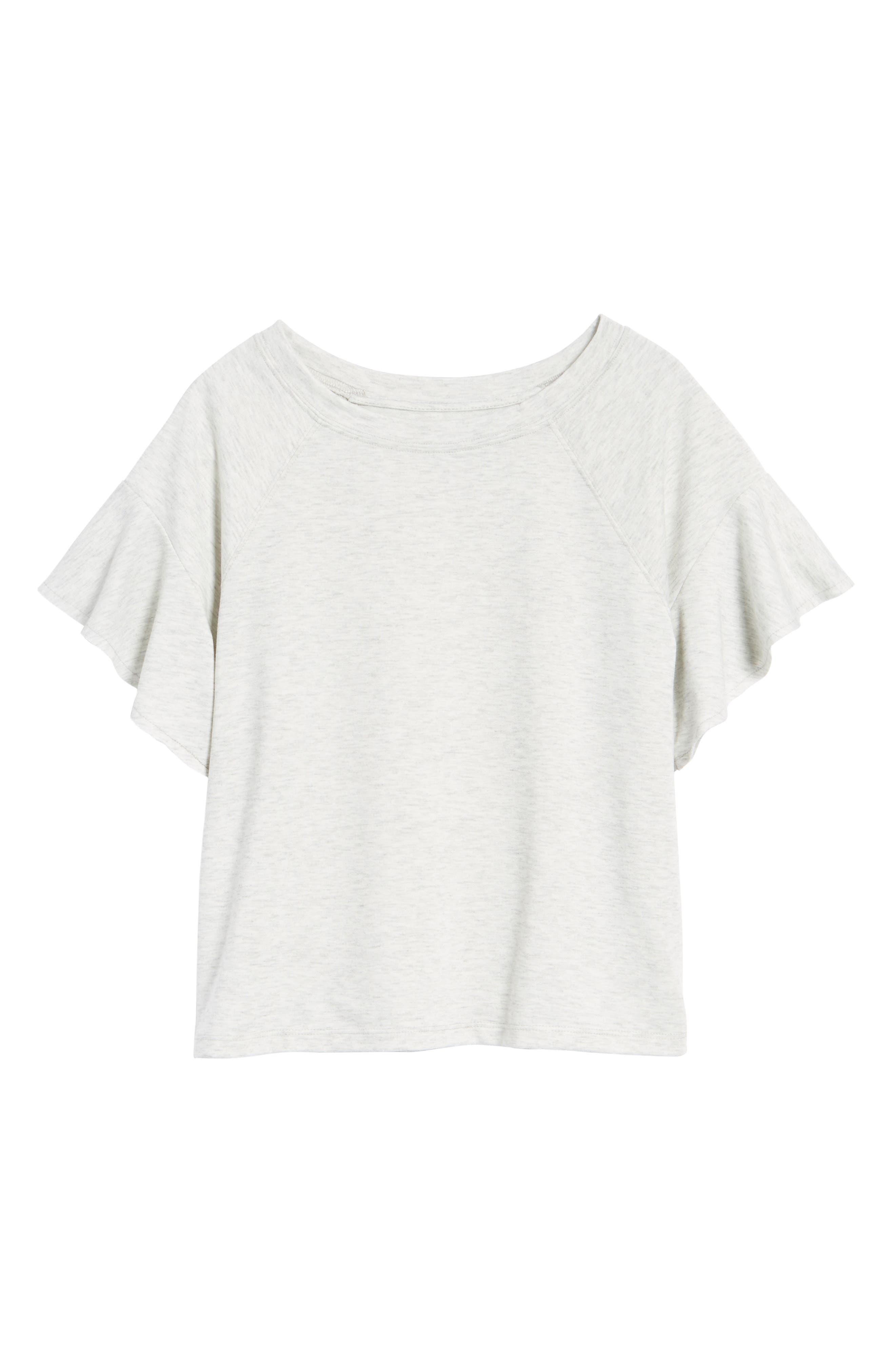 Ruffle Sleeve Sweatshirt,                             Alternate thumbnail 21, color,