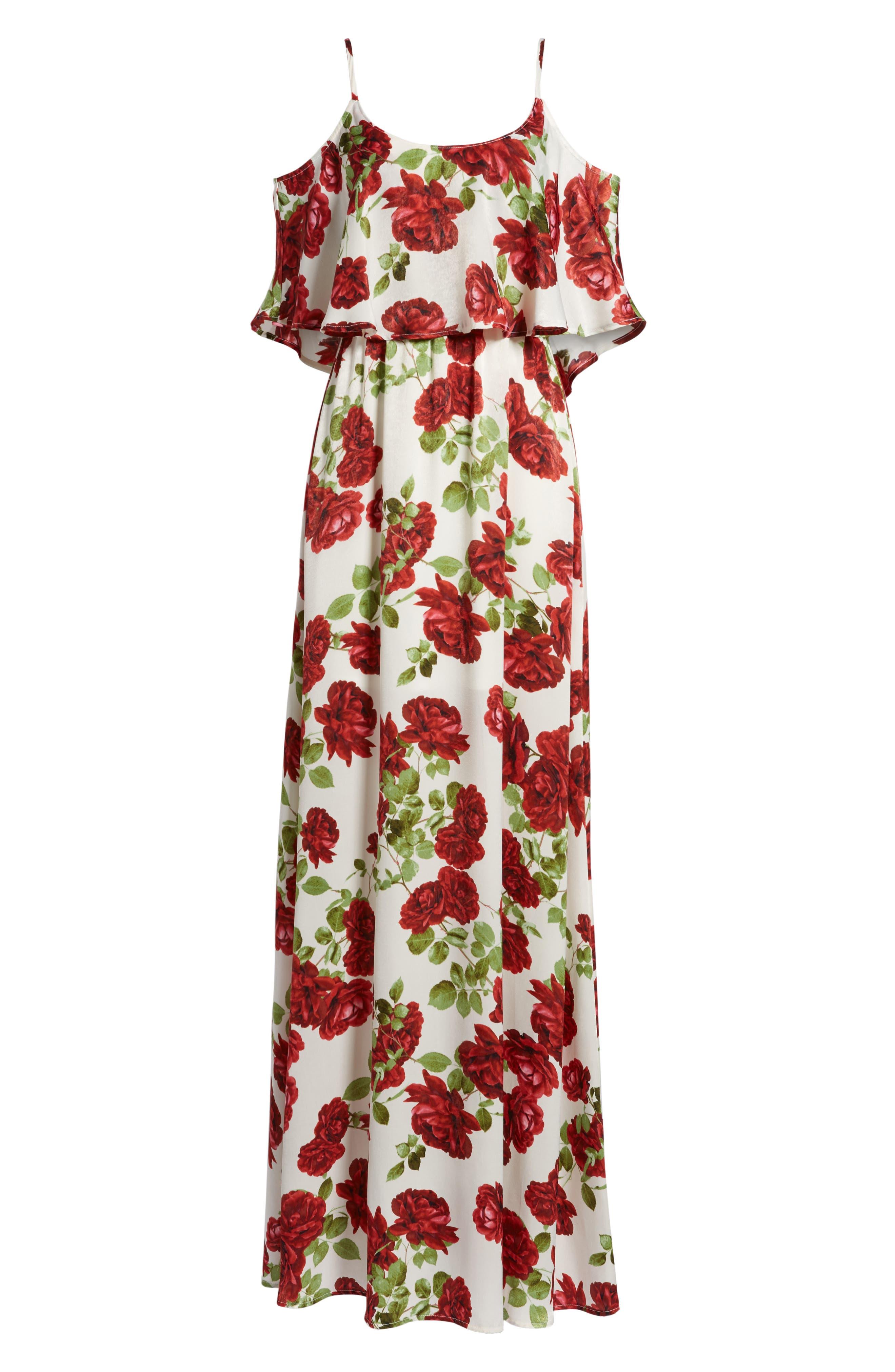 Caitlin Cold Shoulder Chiffon Gown,                             Alternate thumbnail 72, color,