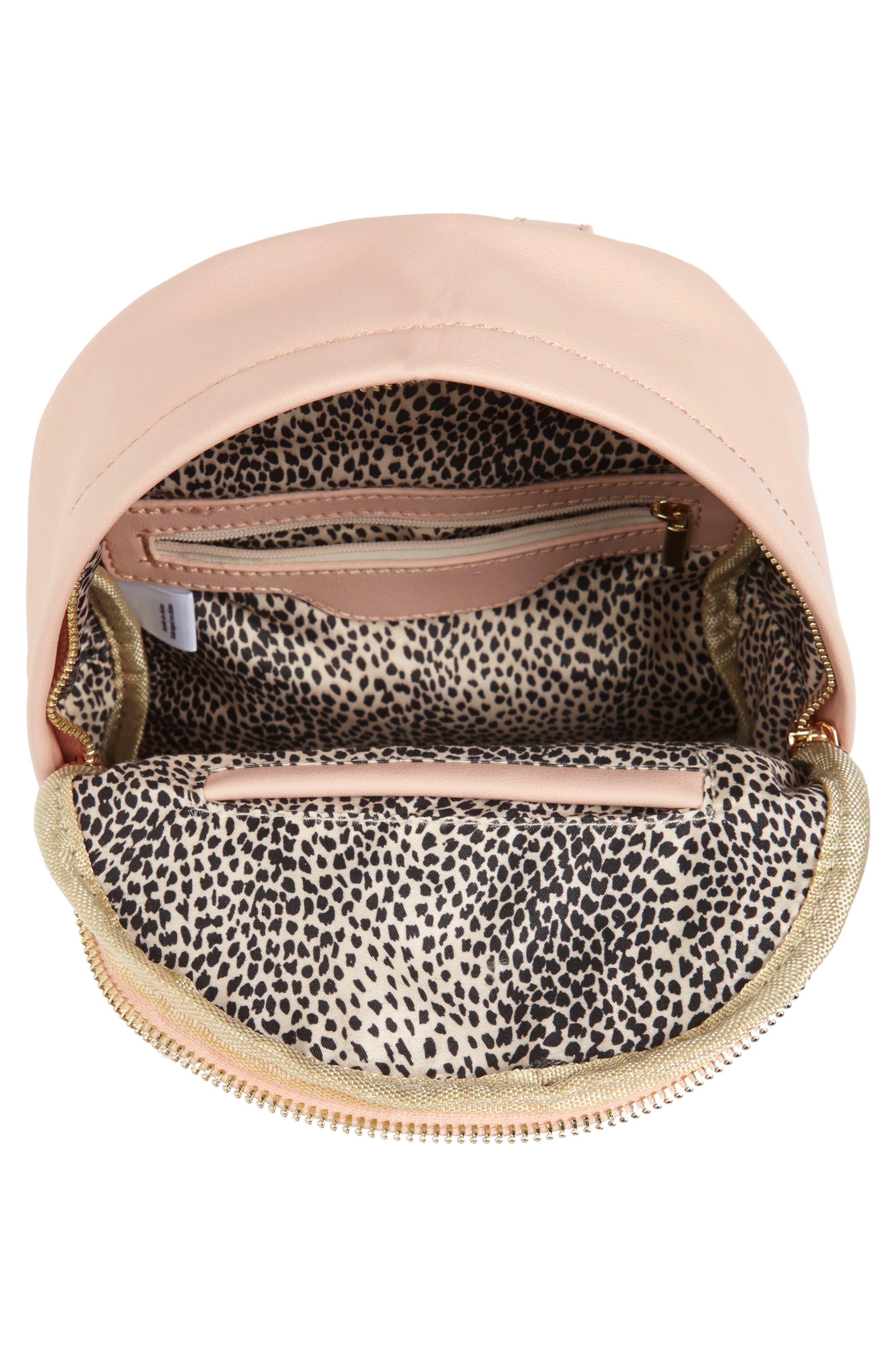 Faux Leather Mini Backpack,                             Alternate thumbnail 32, color,