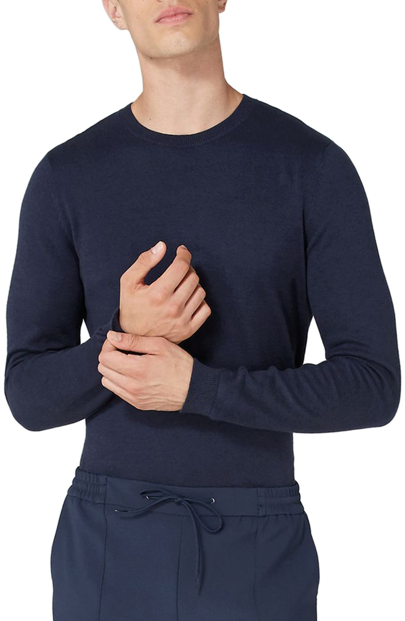 Side Ribbed Slim Fit Sweater,                             Main thumbnail 5, color,