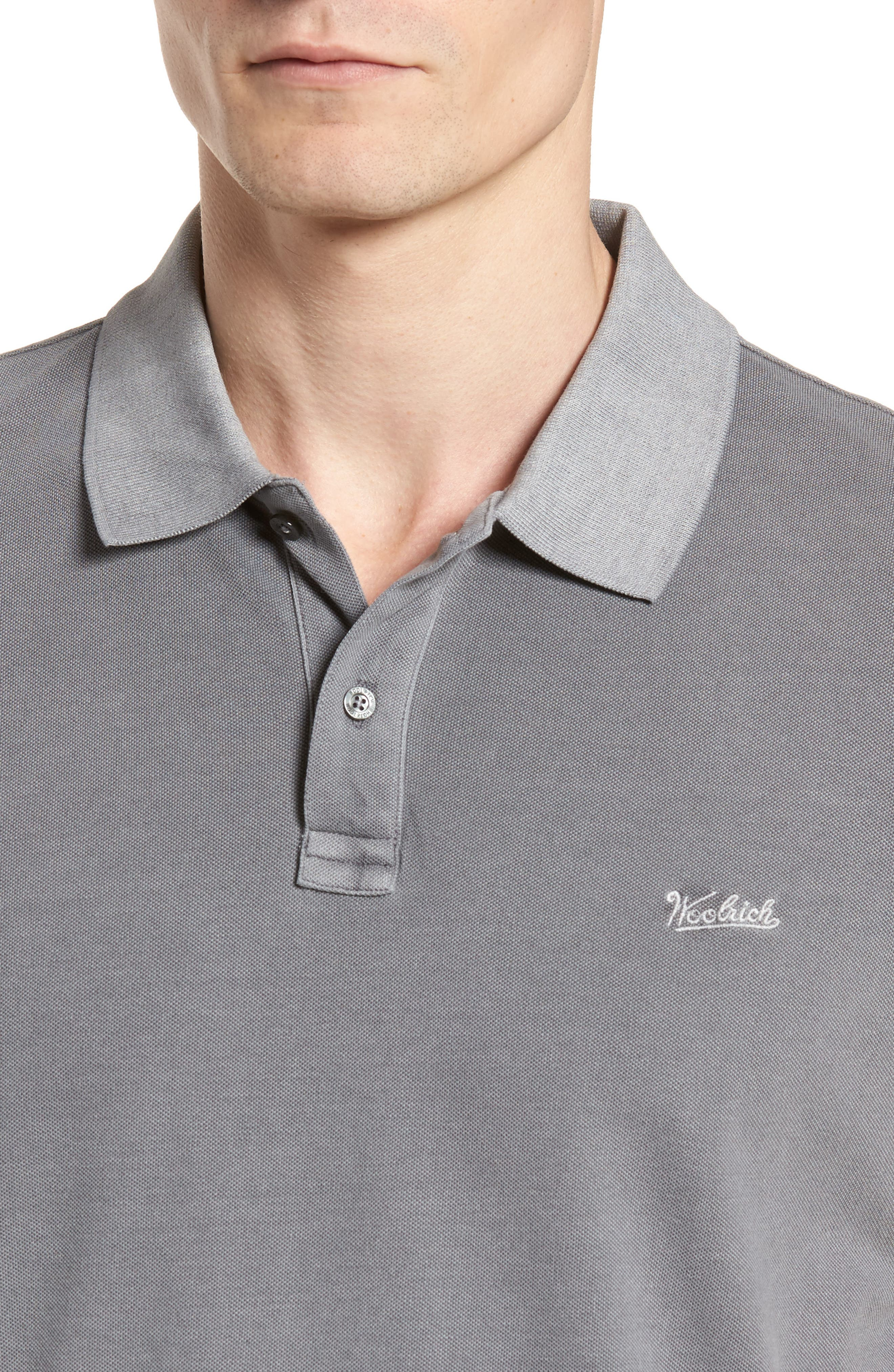 & Bros. Vintage Mackinack Polo,                             Alternate thumbnail 4, color,                             STEEL GREY