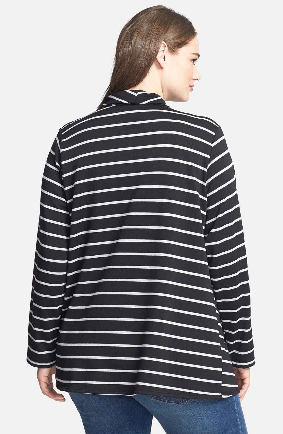 Stripe Fleece Wrap,                             Alternate thumbnail 6, color,