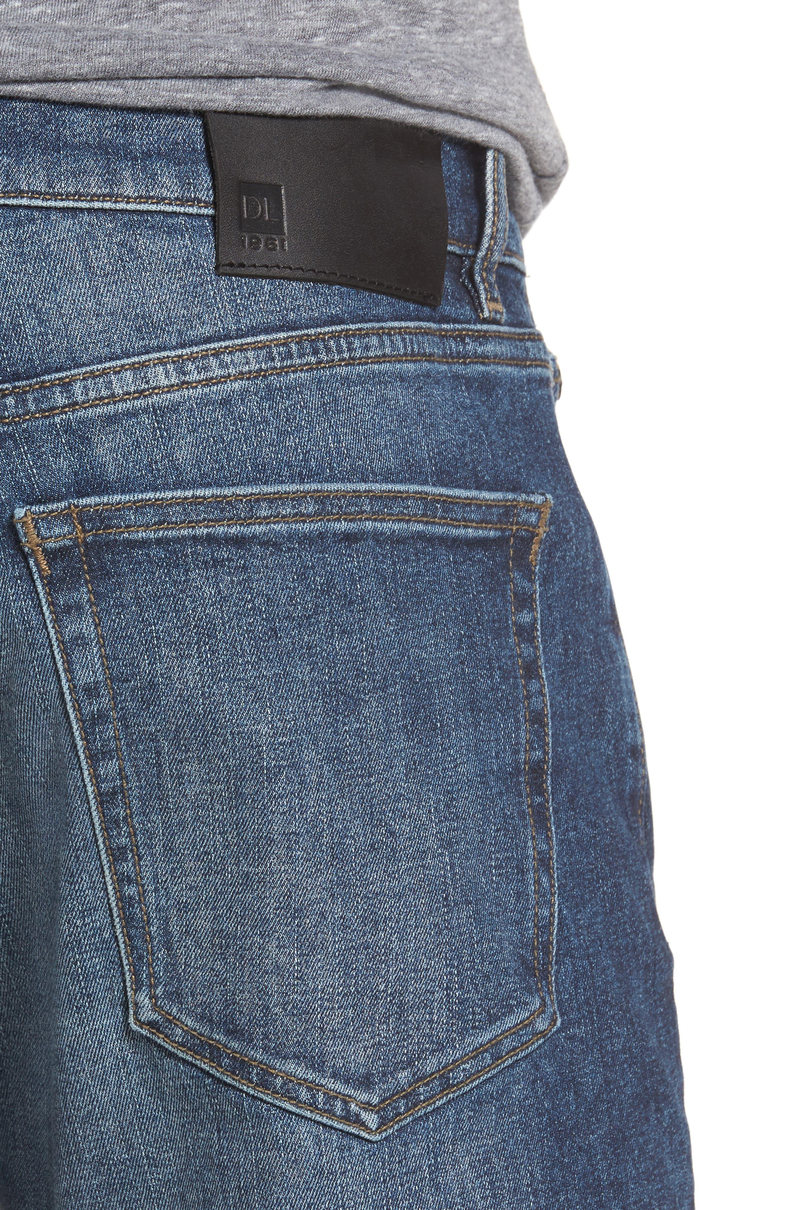 Russell Slim Straight Leg Jeans,                             Alternate thumbnail 4, color,                             405