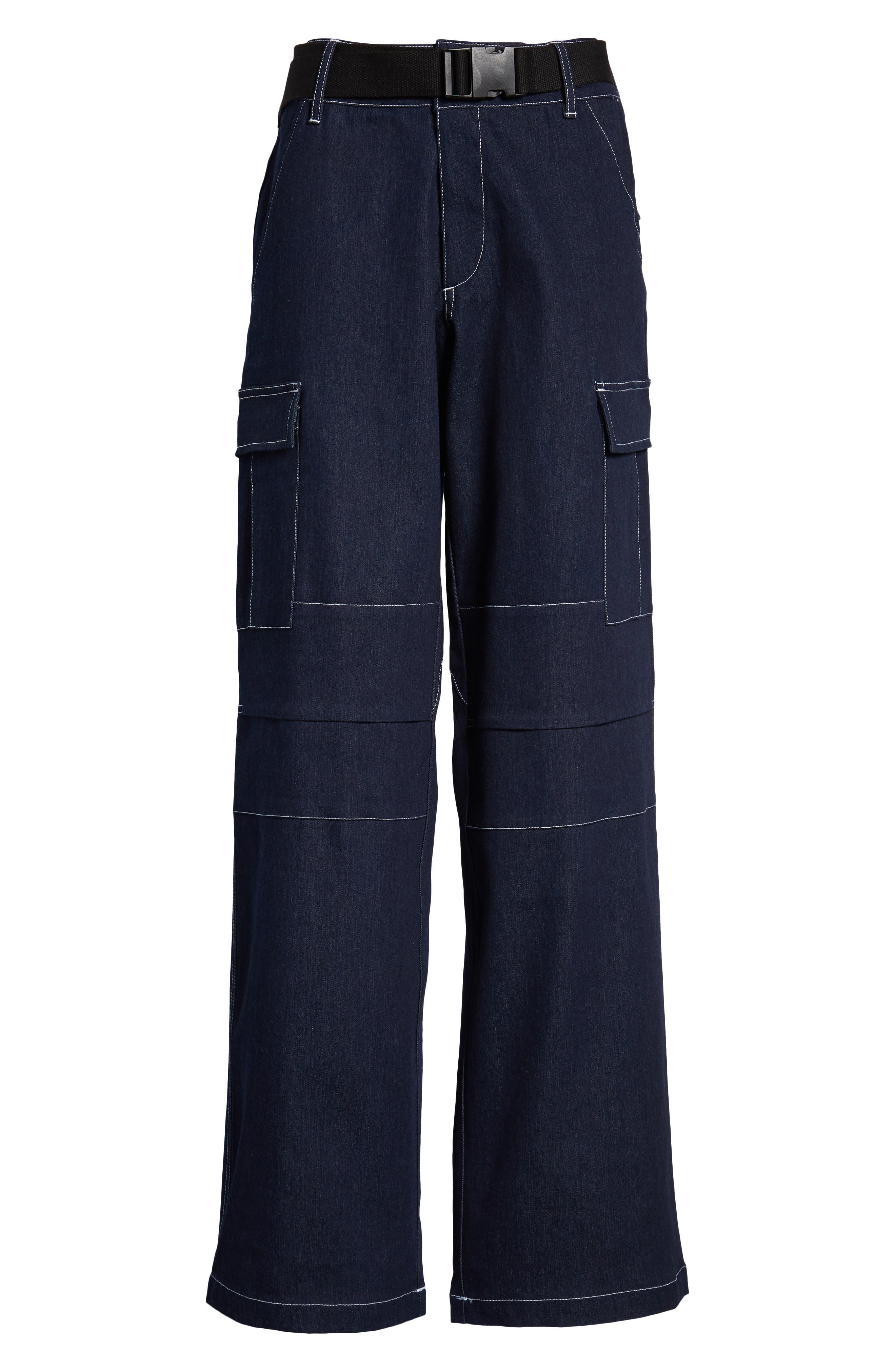 I.AM.GIA Ace Cargo Jeans,                             Alternate thumbnail 6, color,                             DENIM