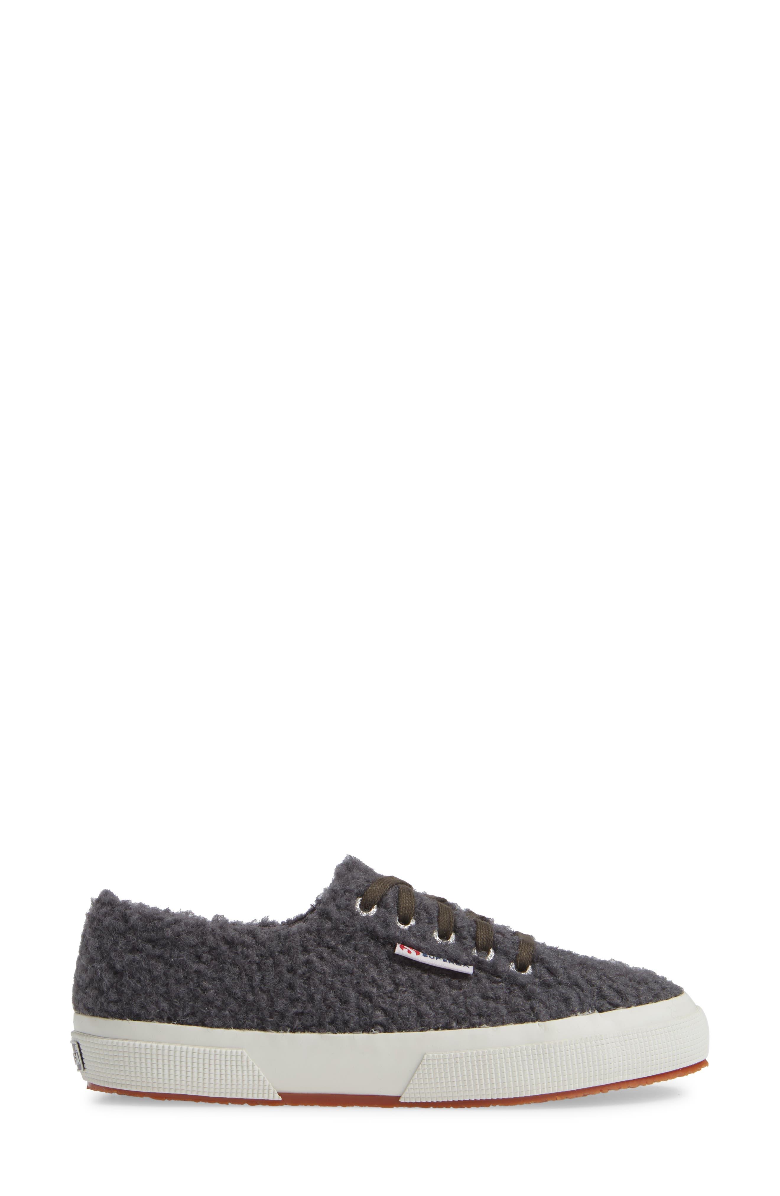 2759 Curly Wool Sneaker,                             Alternate thumbnail 3, color,                             DARK GREY/ GREY