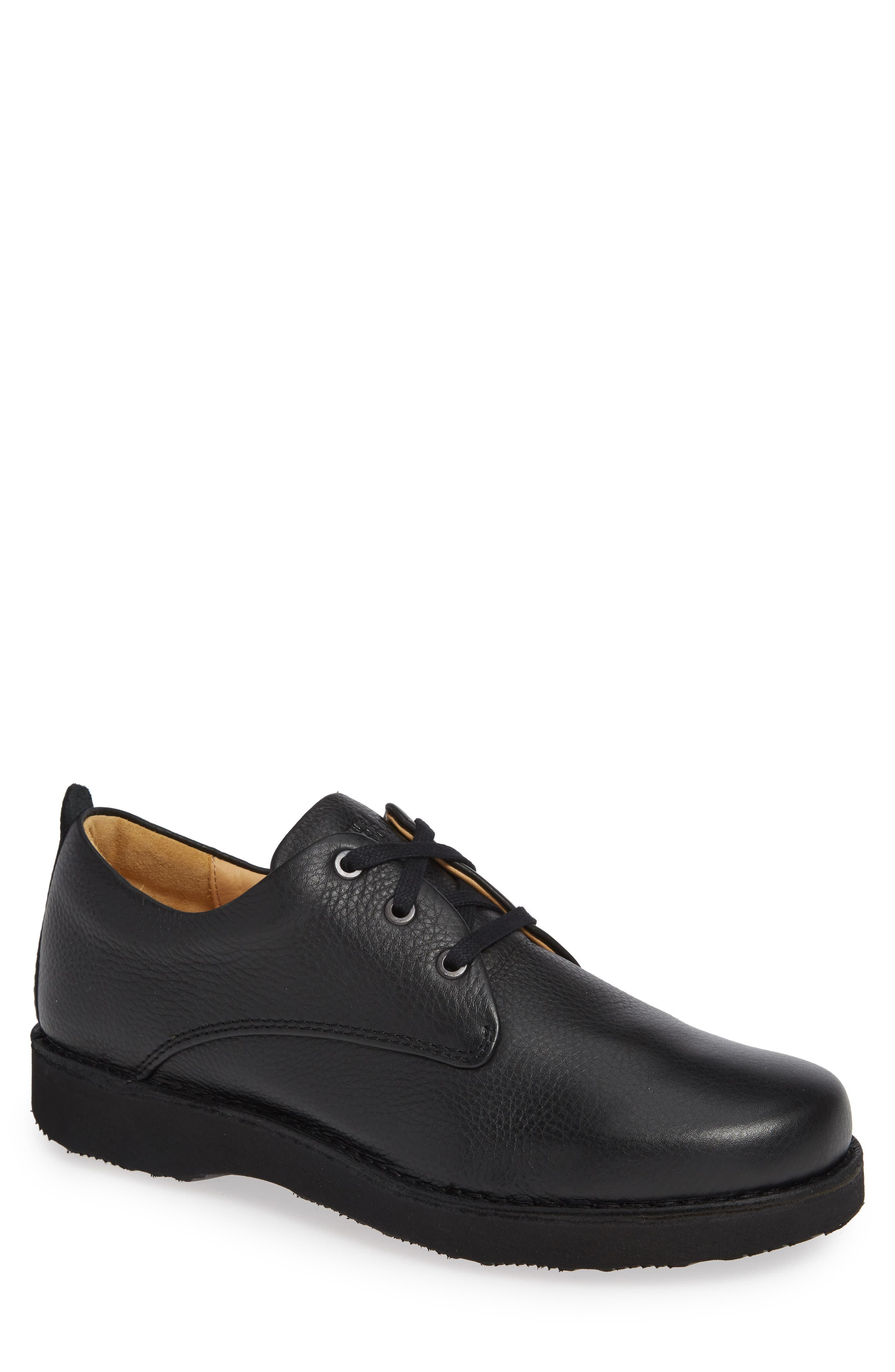 Free Plain Toe Derby,                         Main,                         color, BLACK LEATHER