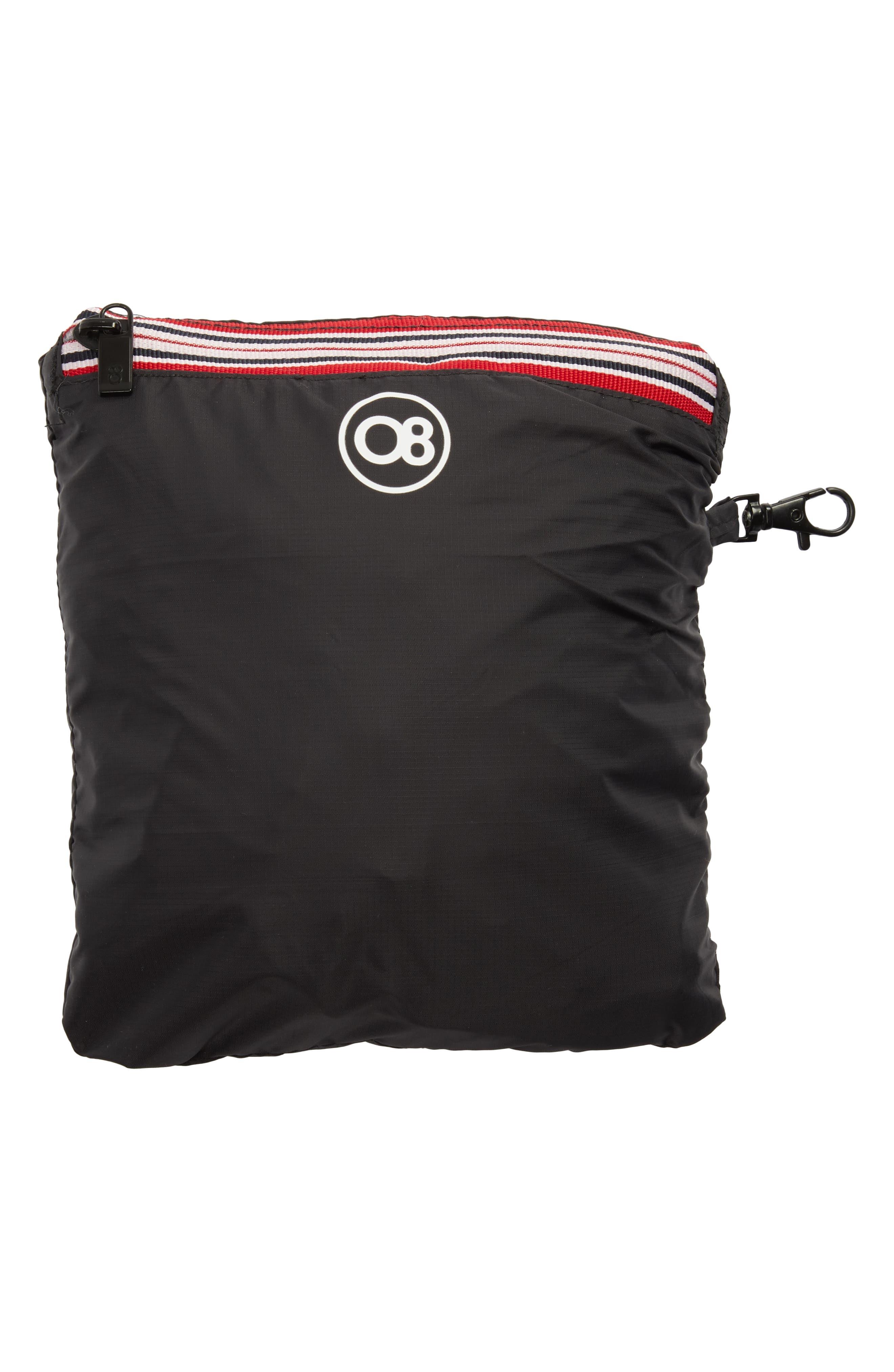 Packable Rain Jacket,                             Alternate thumbnail 6, color,                             BLACK