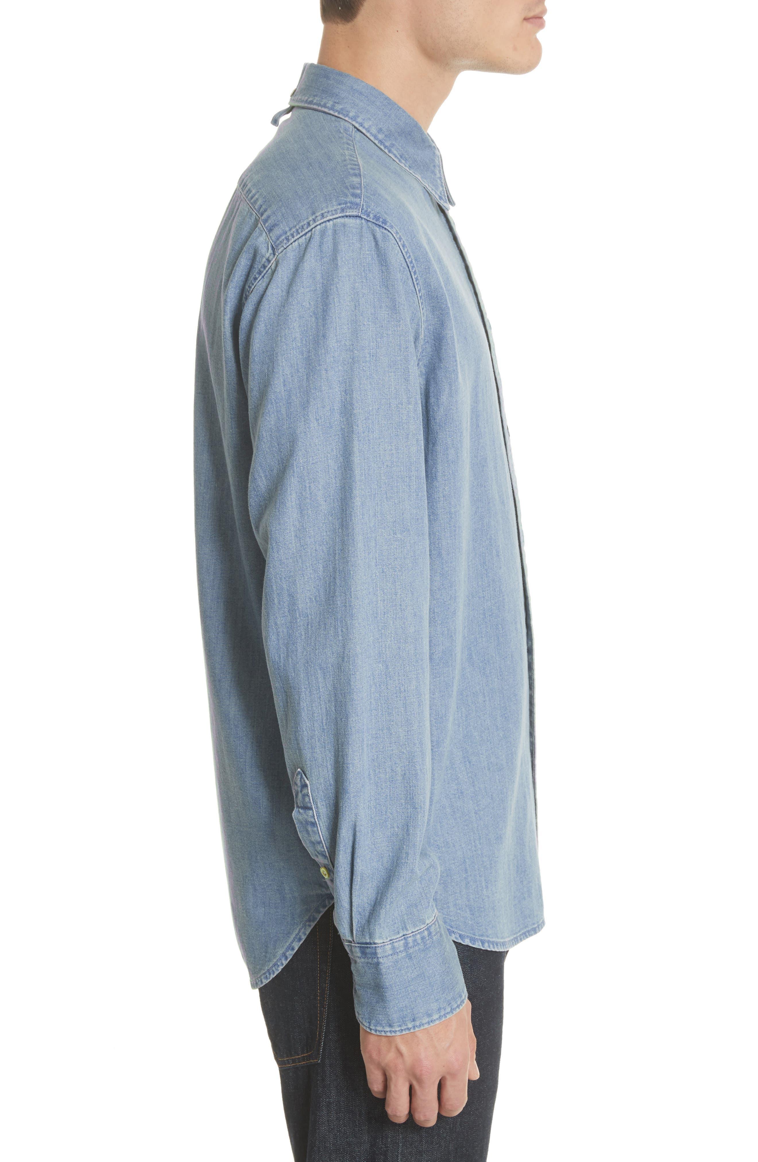 Fit 3 Chambray Denim Shirt,                             Alternate thumbnail 3, color,