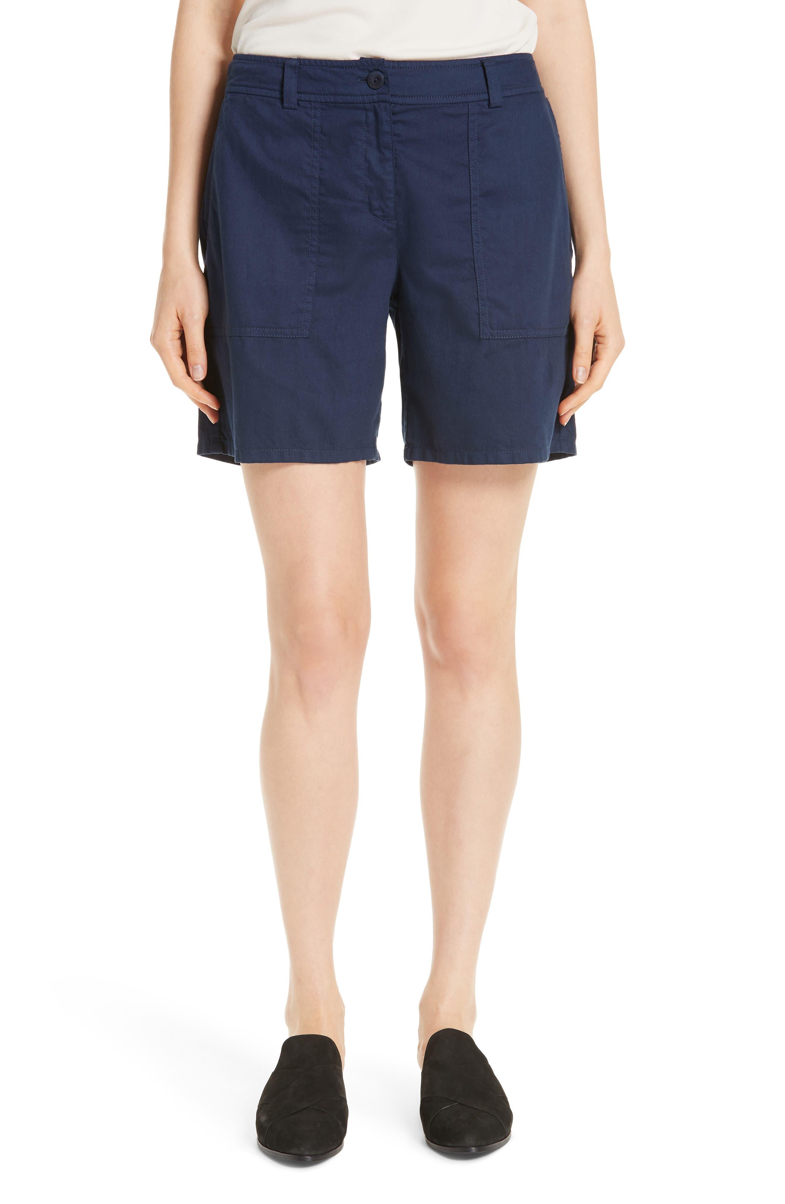 Organic Cotton Walking Shorts,                         Main,                         color, INDIGO