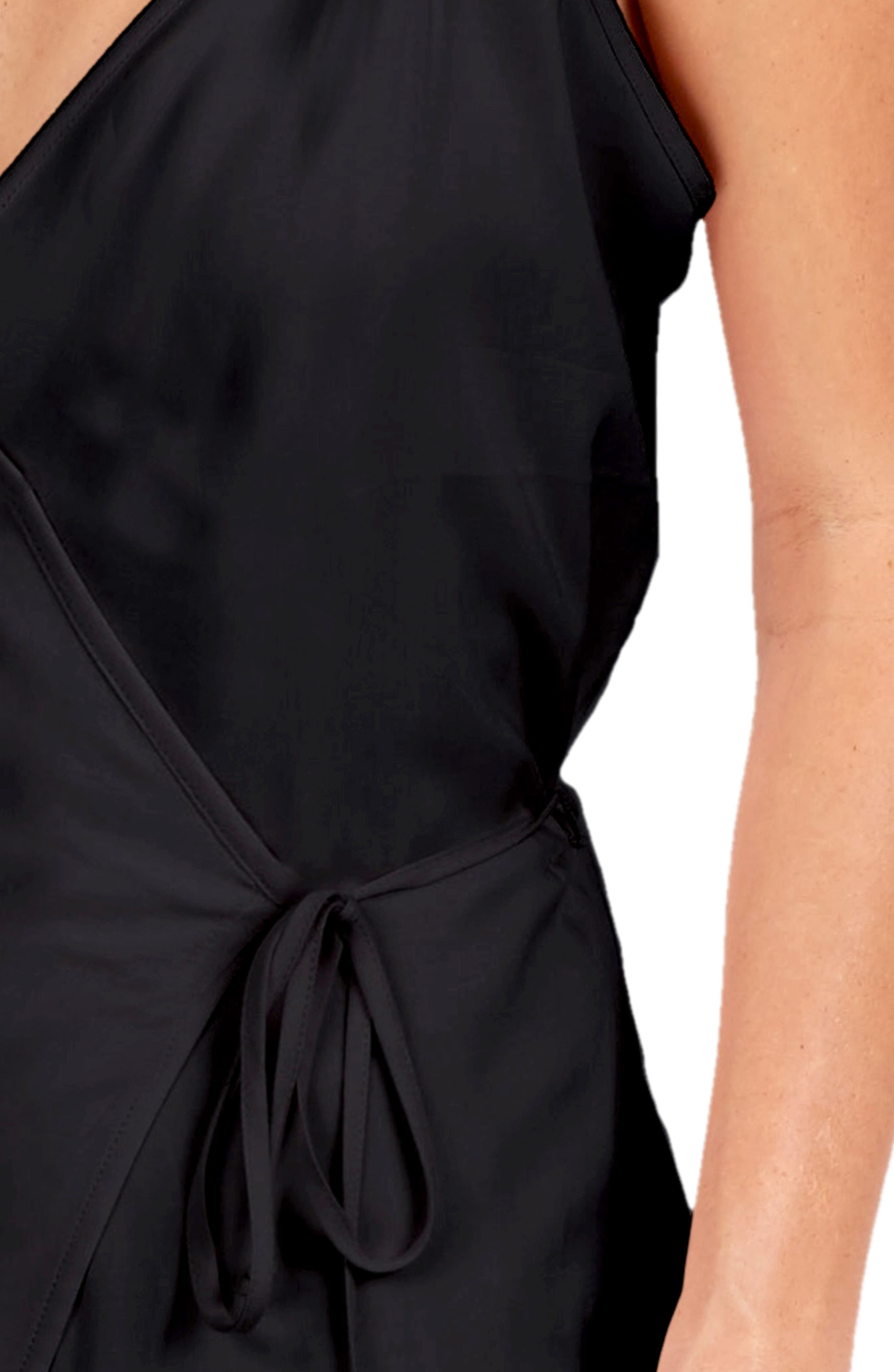 Leo Wrap Maxi Dress,                             Alternate thumbnail 4, color,                             001